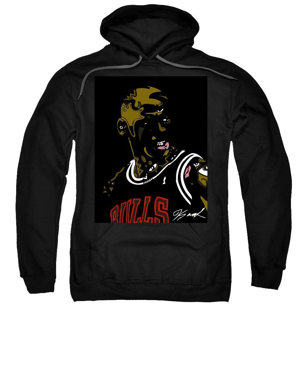 Jordan Sweatshirt featuring the digital art Michael Jordan by Kamoni Khem
