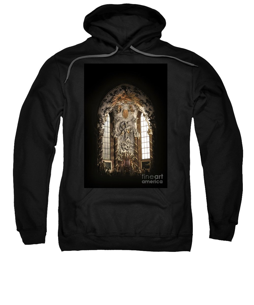 Architecture Sweatshirt featuring the photograph Michaelerskirche Church Interior by Cristian M Vela