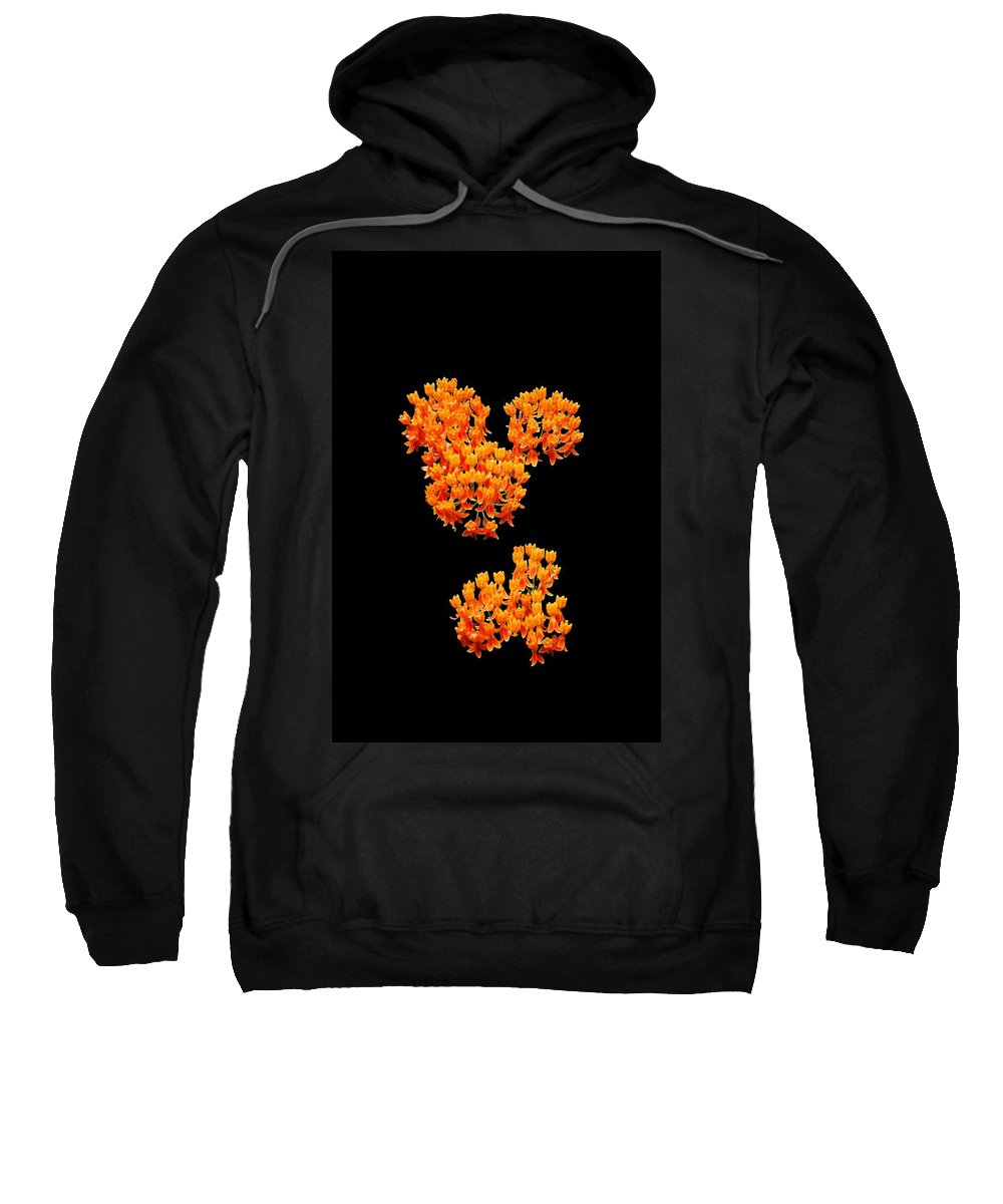 Design Flowers Sweatshirt featuring the photograph Mickey Flowers by Eric Liller