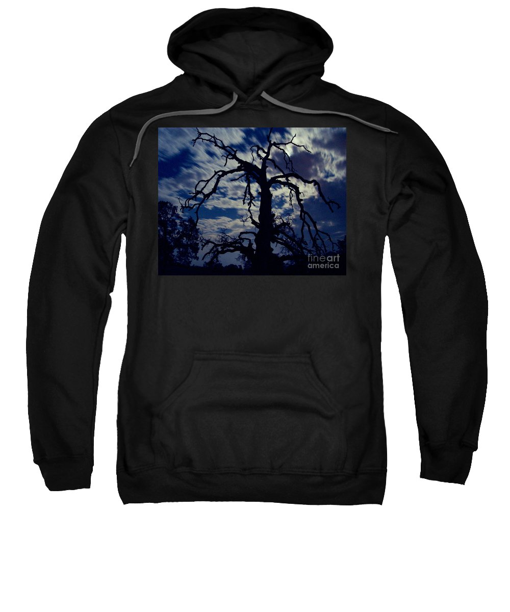 Clouds Sweatshirt featuring the photograph Midnight Blue by Peter Piatt