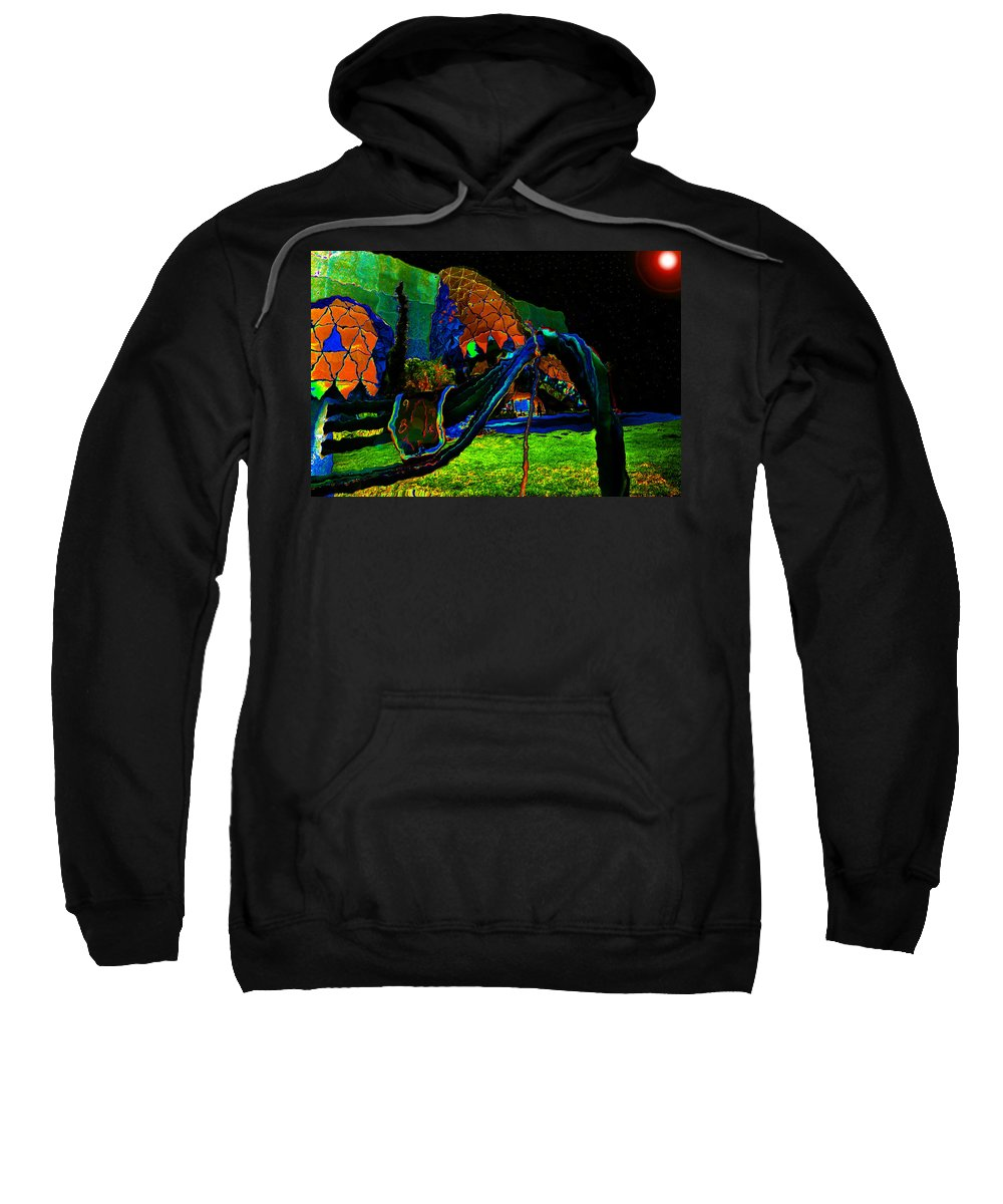 Art Sweatshirt featuring the painting Midnight Sun by David Lee Thompson