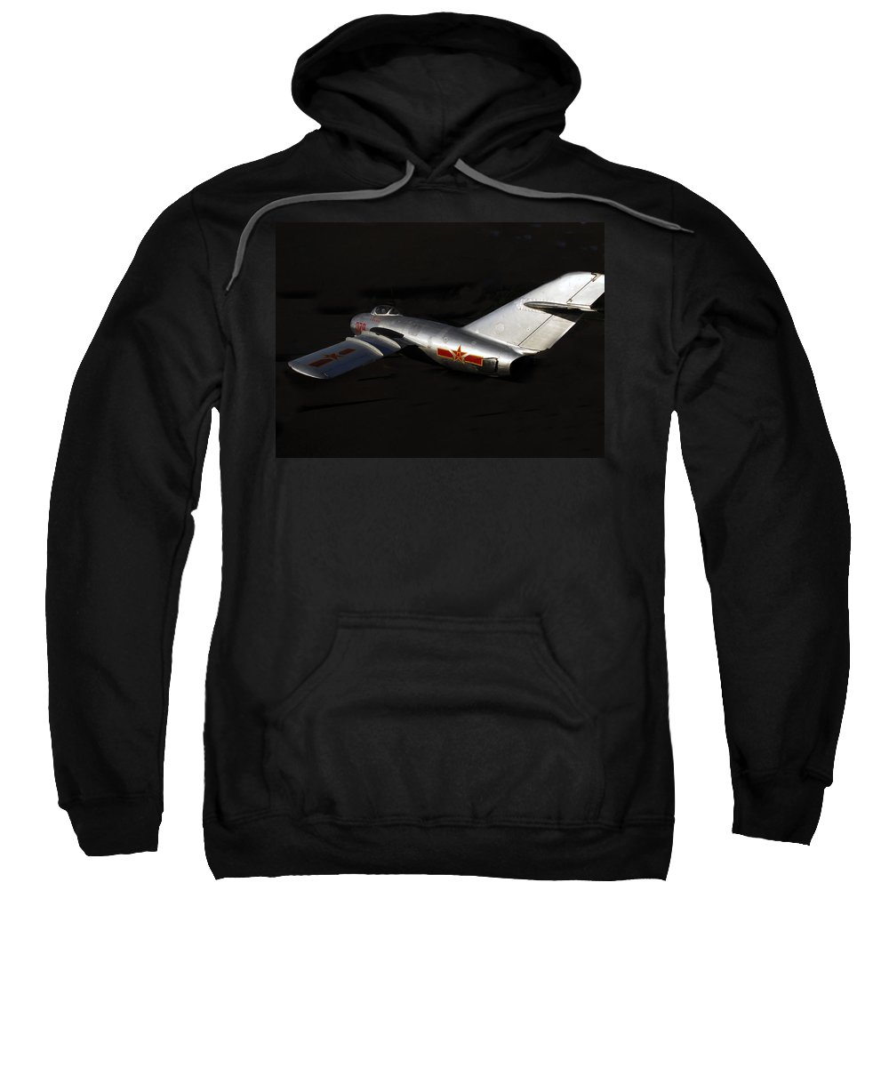 Mig Fighter Jet Sweatshirt featuring the photograph MiG by David Lee Thompson