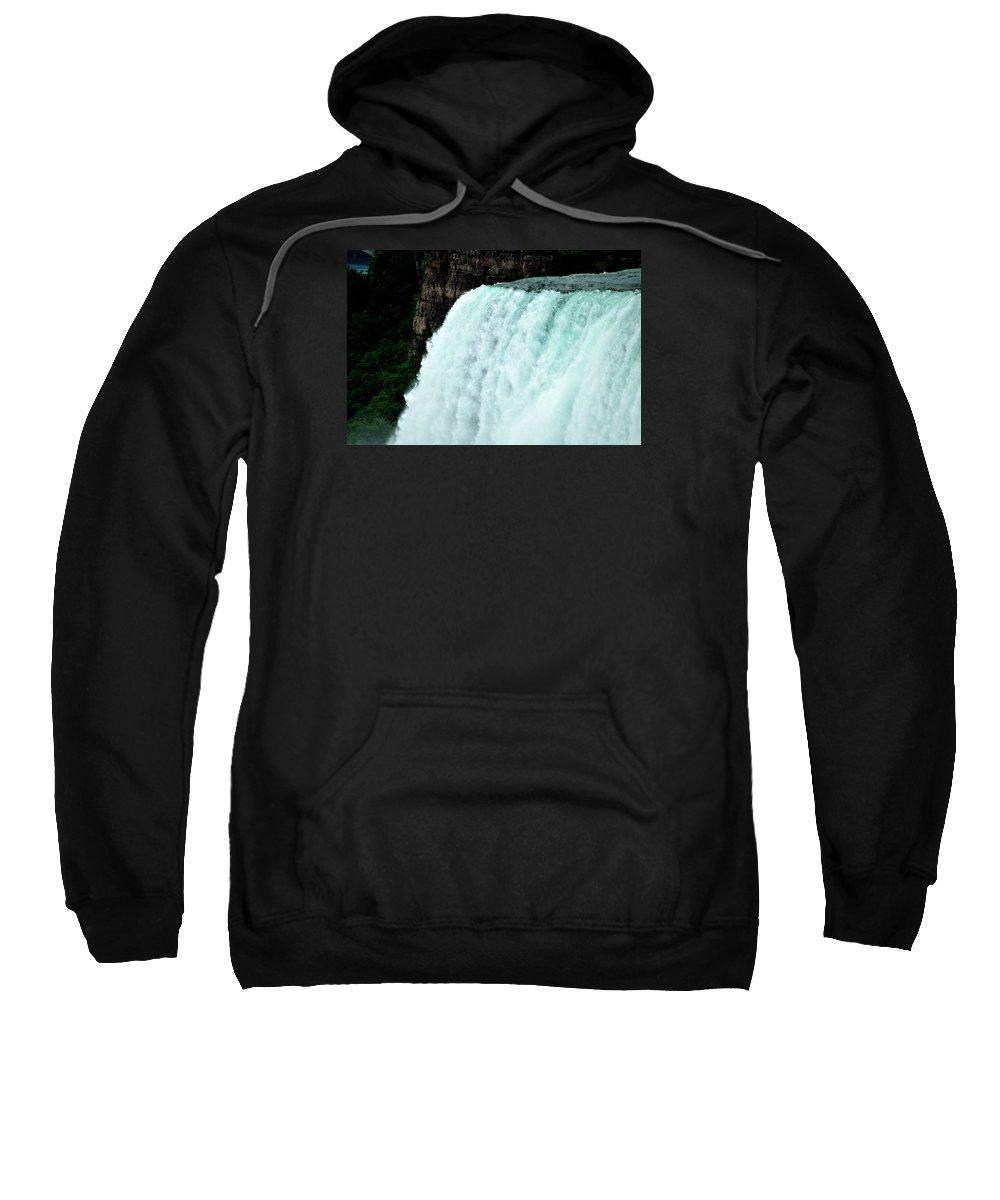 Mighty Niagara Falls Sweatshirt featuring the photograph Mighty Niagara Falls by Charles J Pfohl