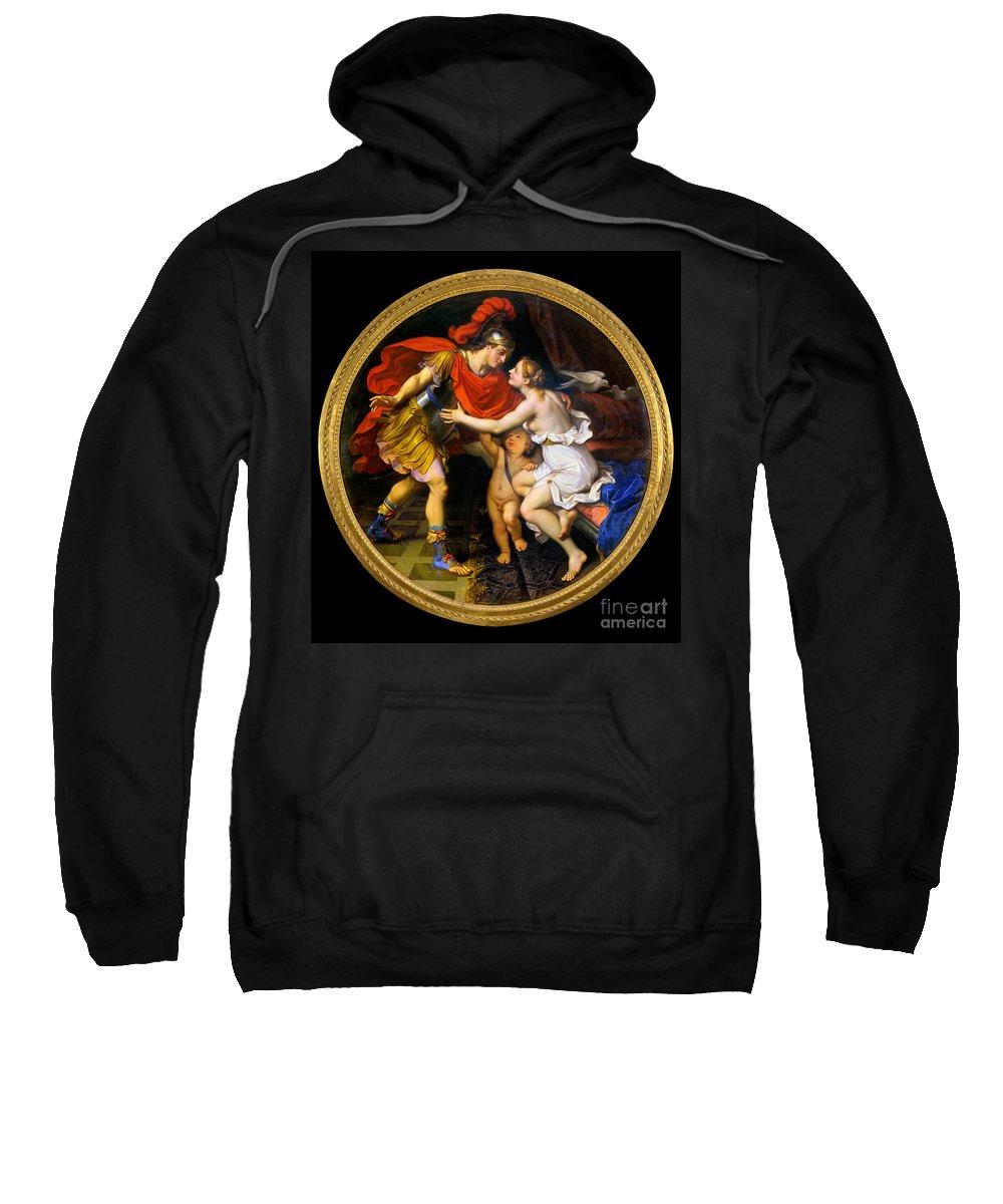 1658 Sweatshirt featuring the painting Mignard: Venus & Mars by Granger
