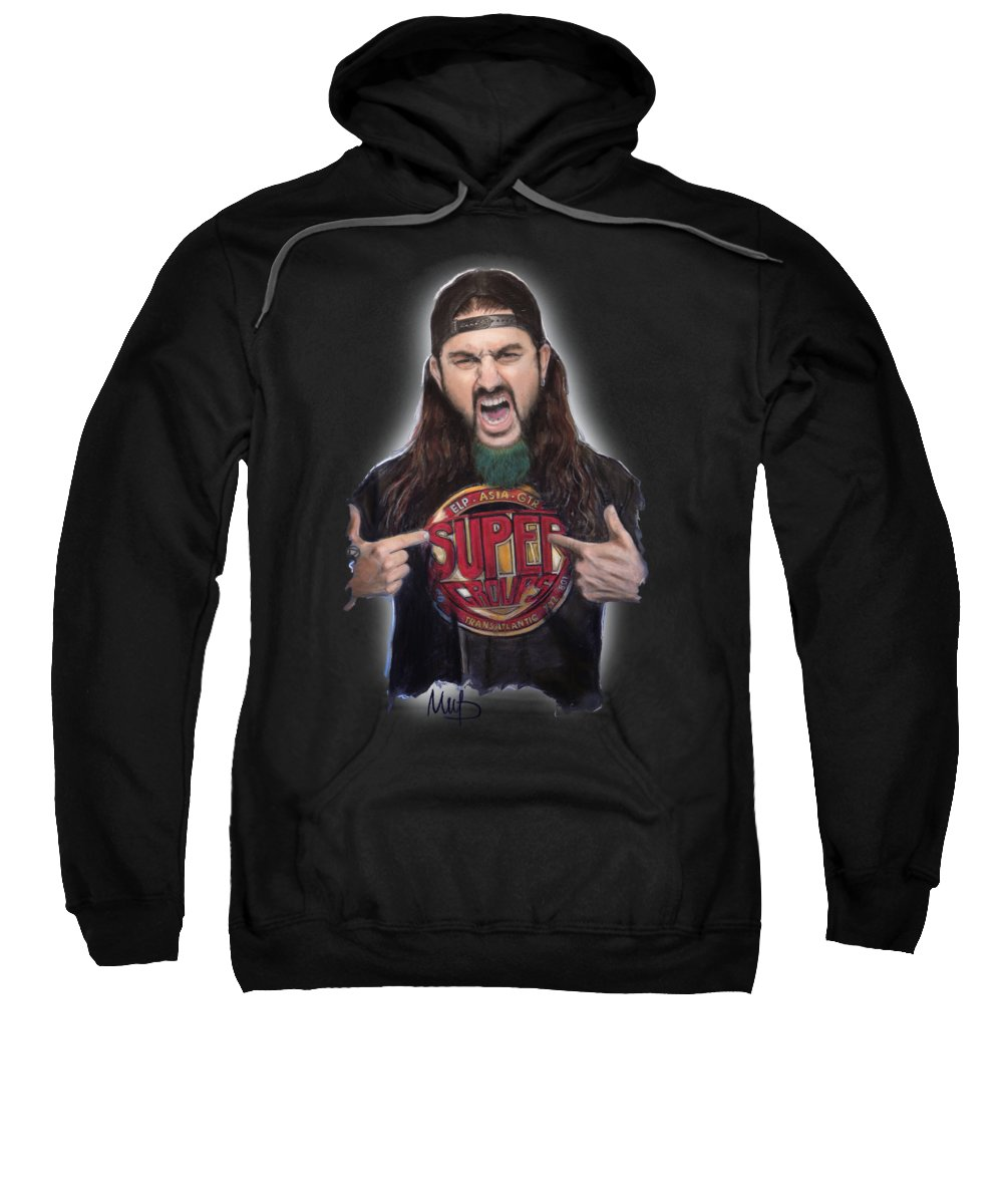 Mike Portnoy Sweatshirt featuring the mixed media Mike Portnoy by Melanie D