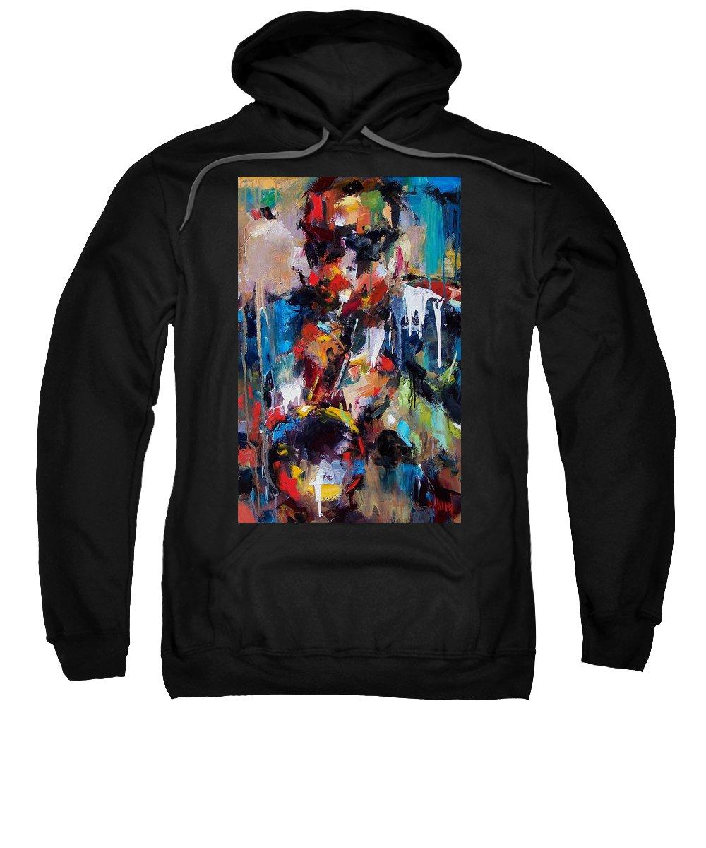 Jazz Art Sweatshirt featuring the painting Miles Davis 2 by Debra Hurd