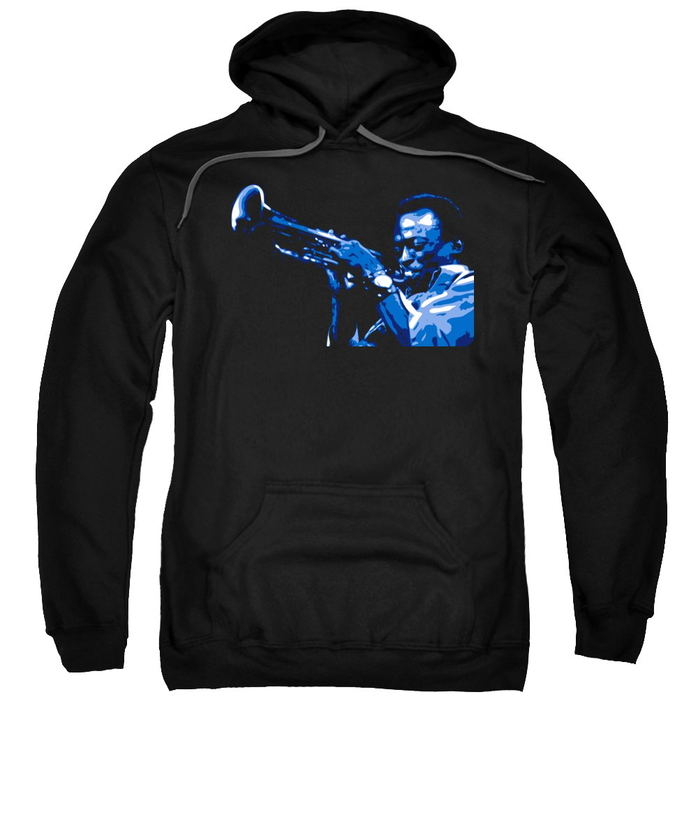 Miles Davis Sweatshirt featuring the digital art Miles Davis by DB Artist