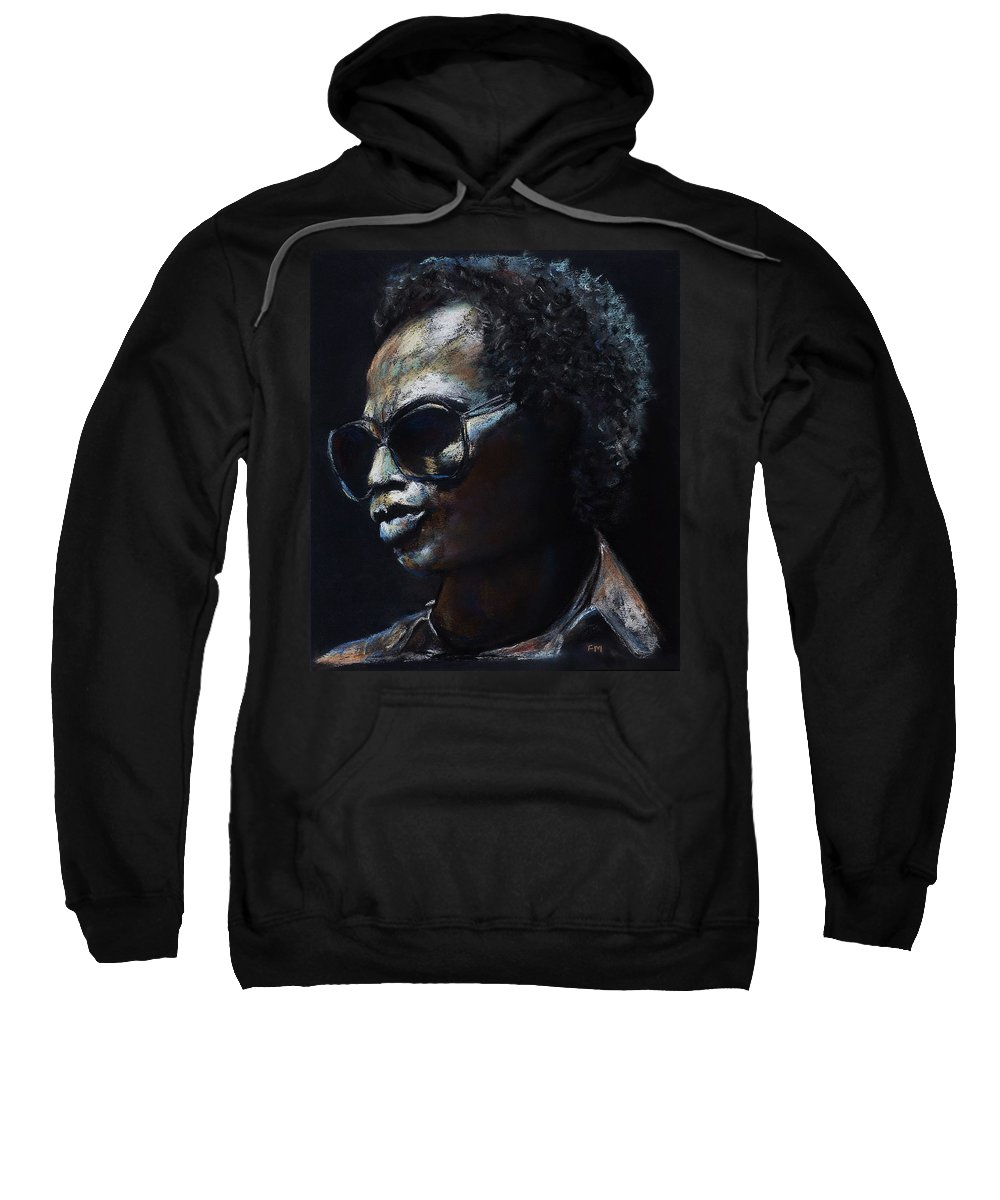 Miles Davis Sweatshirt featuring the painting Miles Davis by Frances Marino
