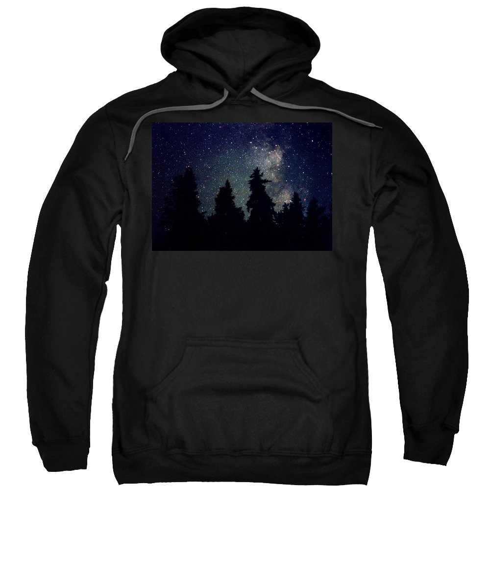 Milky Way Sweatshirt featuring the photograph Milky Way Above Northern Forest 22 by Lyle Crump