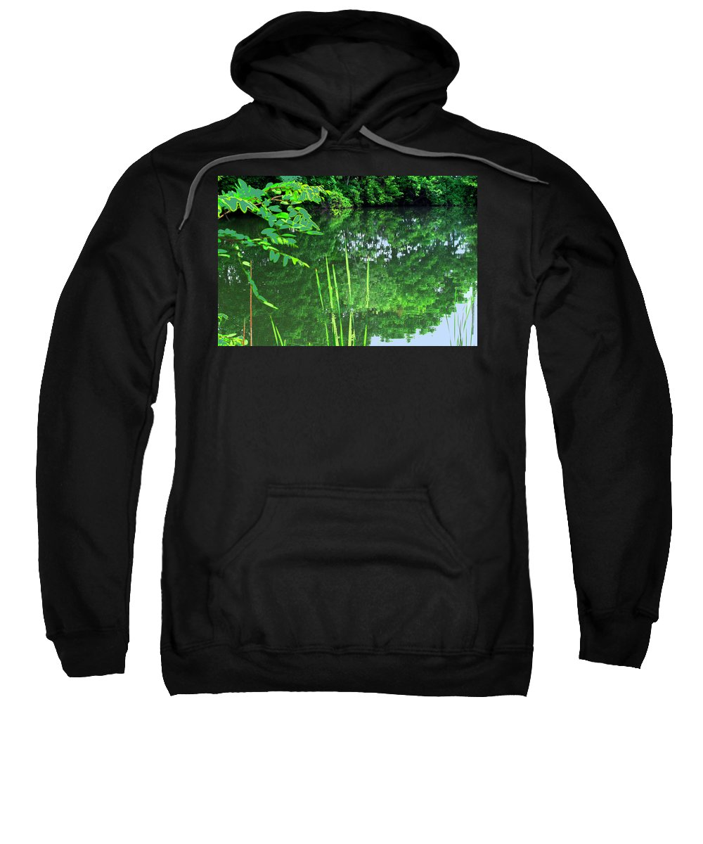 Black Creek Sweatshirt featuring the photograph Mill Pond Reflections by Ian MacDonald