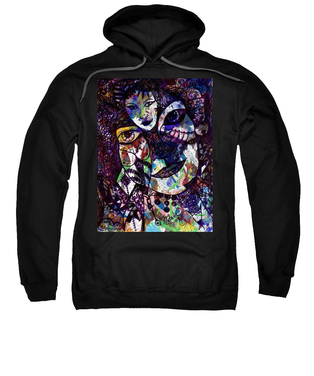 Female Sweatshirt featuring the painting Mind Reader by Natalie Holland