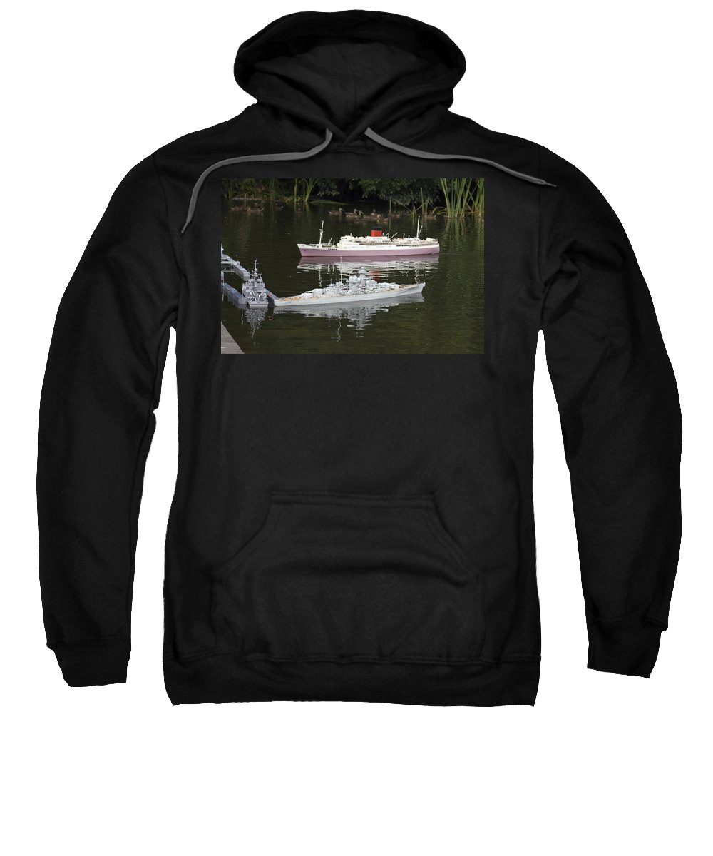 Miniature Wood Boats Sweatshirt featuring the photograph Miniature Boats by Sally Weigand