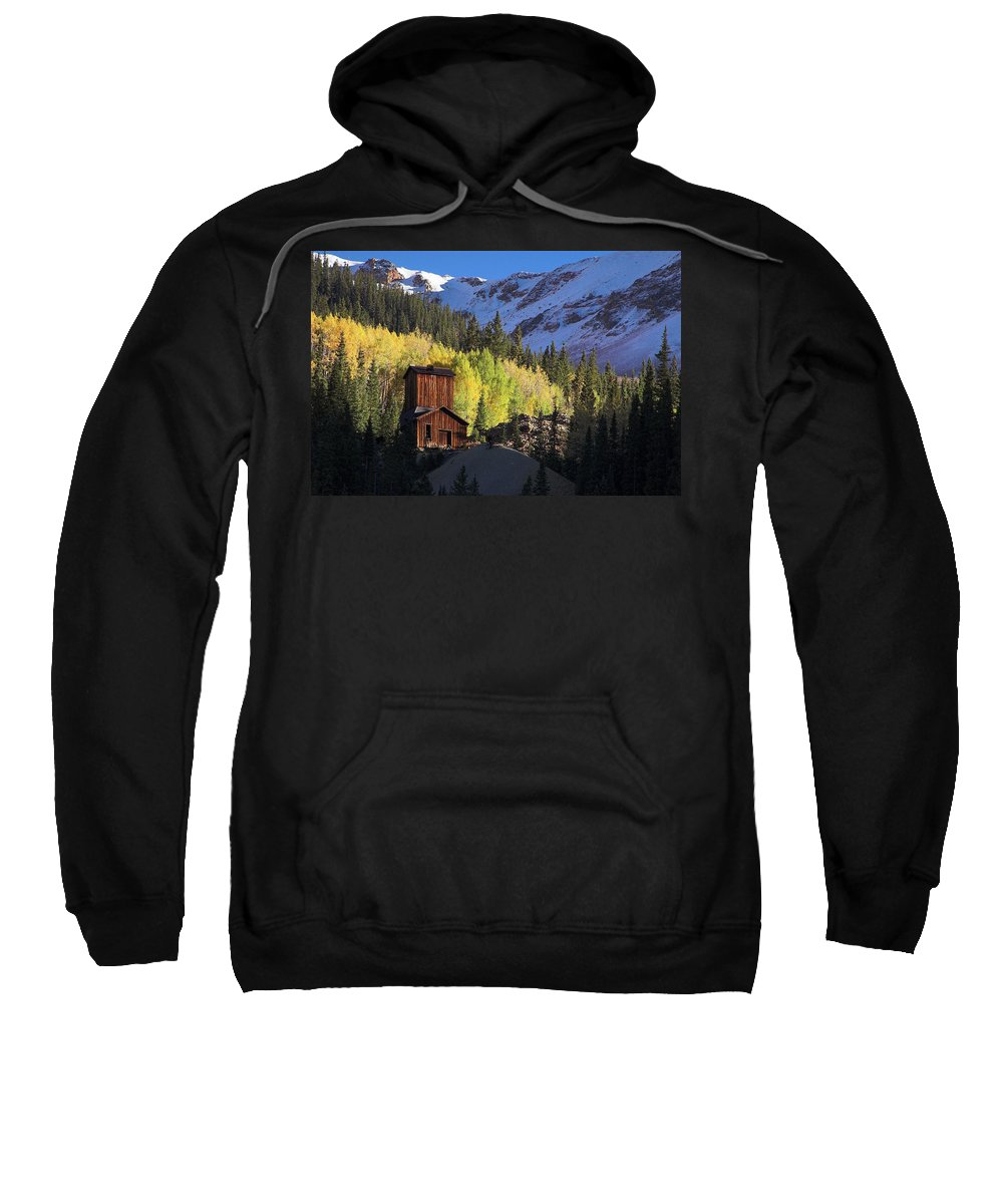 Colorado Sweatshirt featuring the photograph Mining Ruins by Steve Stuller