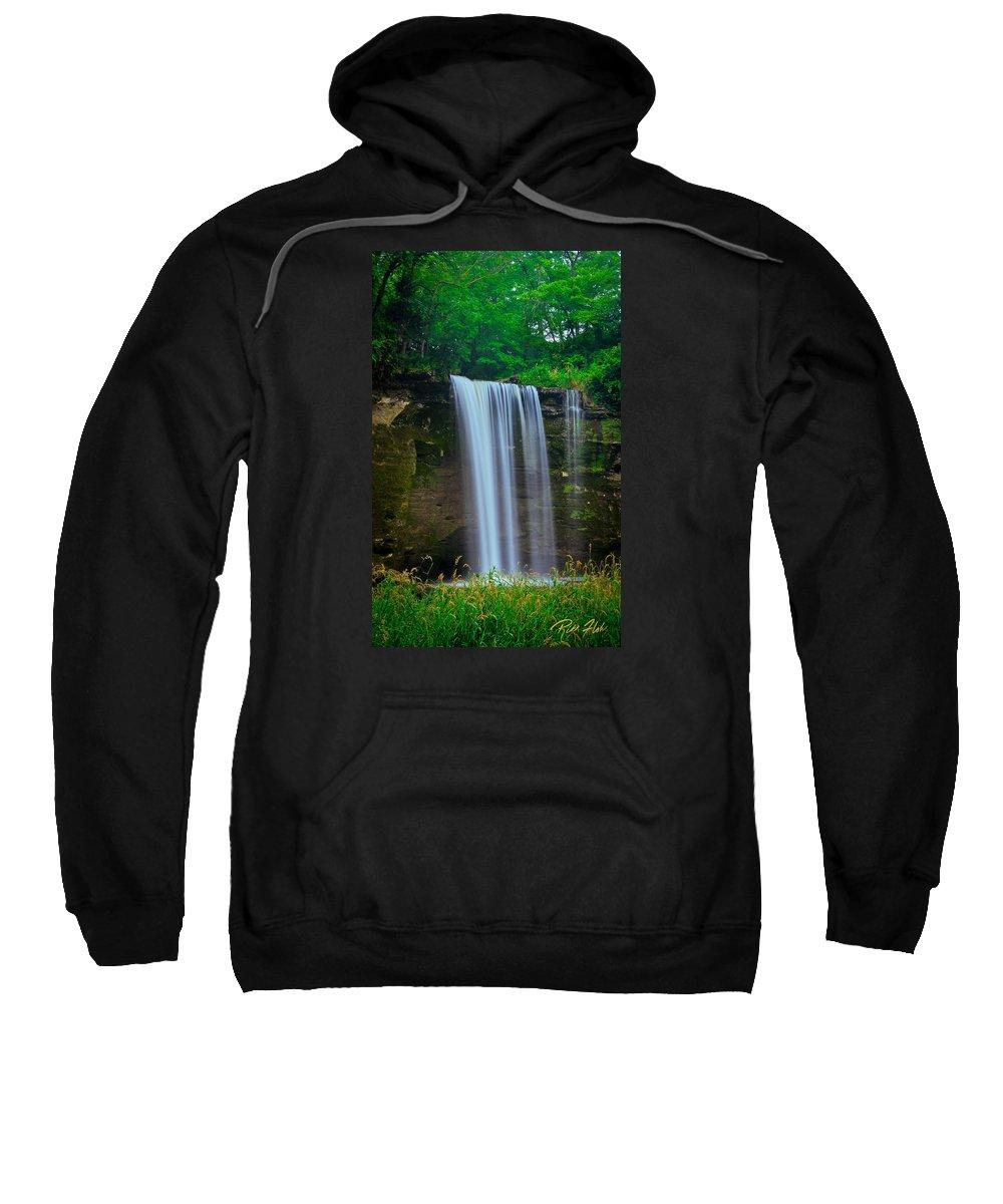 Flowing Sweatshirt featuring the photograph Minneopa Falls by Rikk Flohr