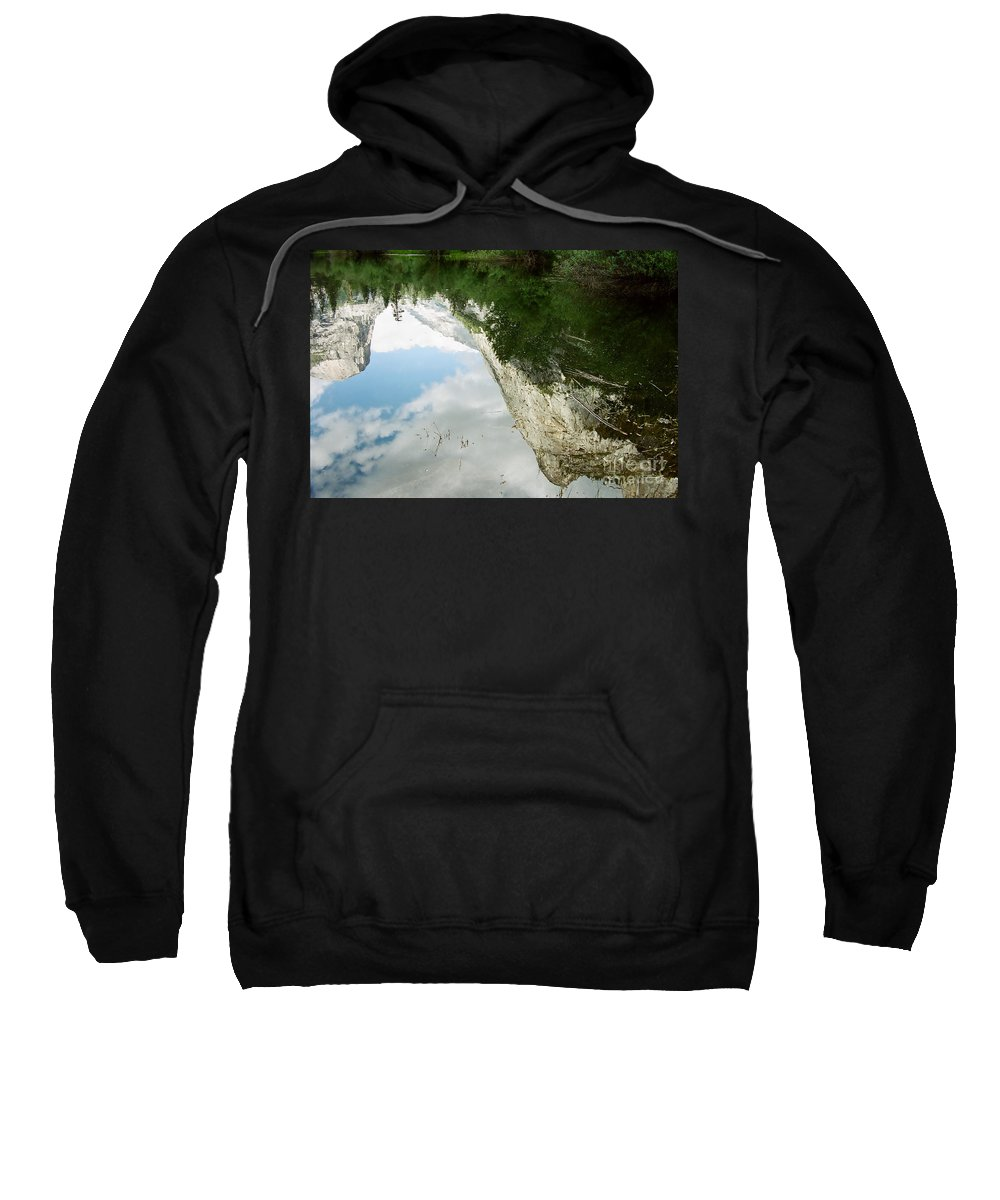 Mirror Lake Sweatshirt featuring the photograph Mirrored by Kathy McClure