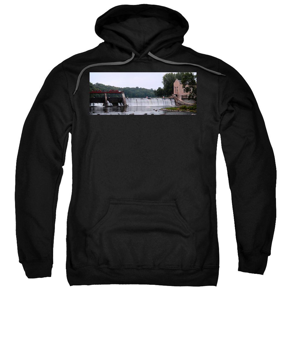 Mitchell Sweatshirt featuring the photograph Mitchell Iowa Dam by Bonfire Photography