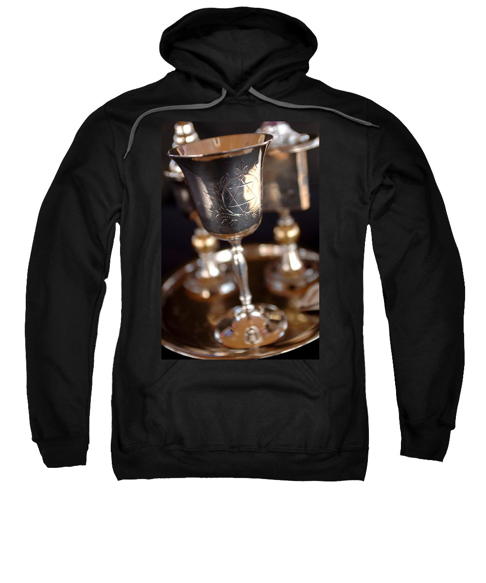 Mitzvah Sweatshirt featuring the photograph Mitzvah Cup by Jill Reger