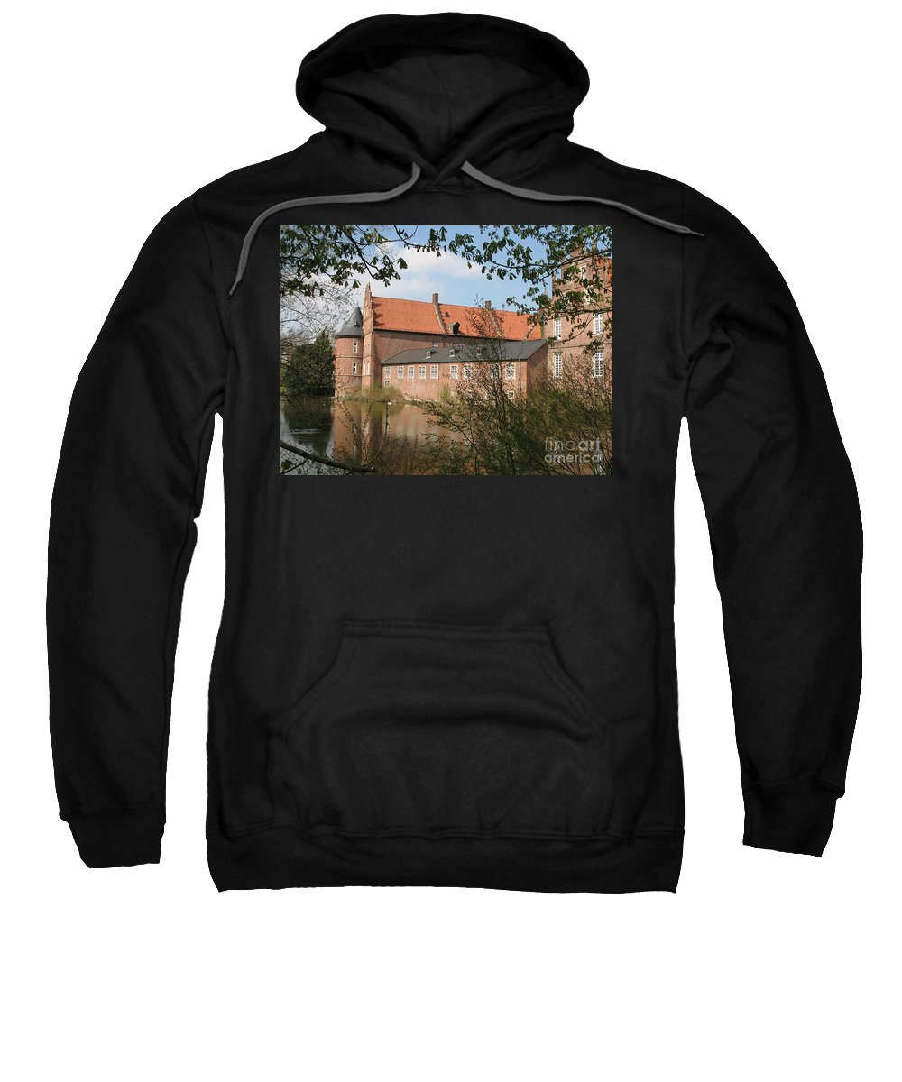 Moated Castle Sweatshirt featuring the photograph Moated Castle Herten II by Christiane Schulze Art And Photography