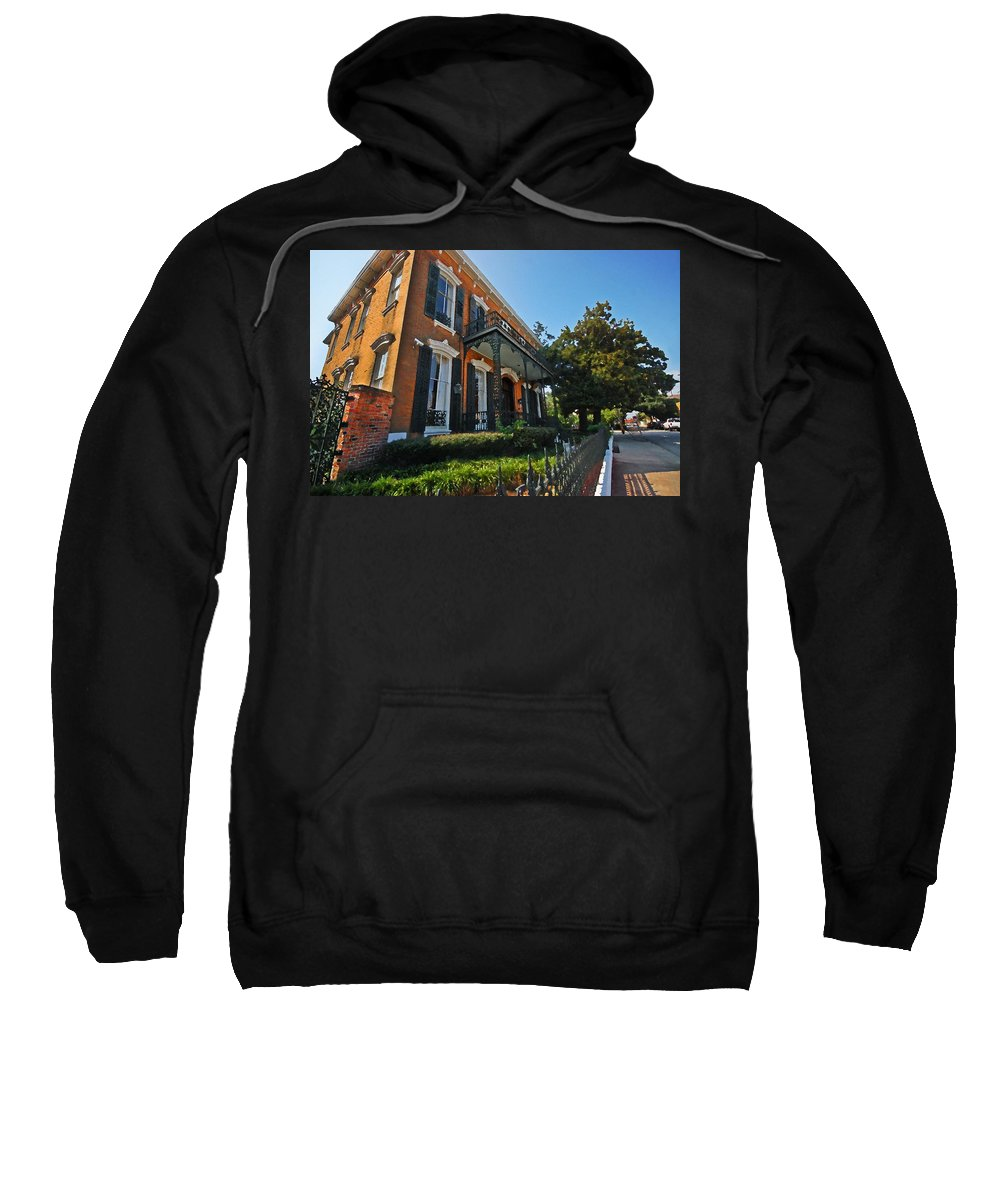 Mobile Sweatshirt featuring the digital art Mobile Law Office by Michael Thomas