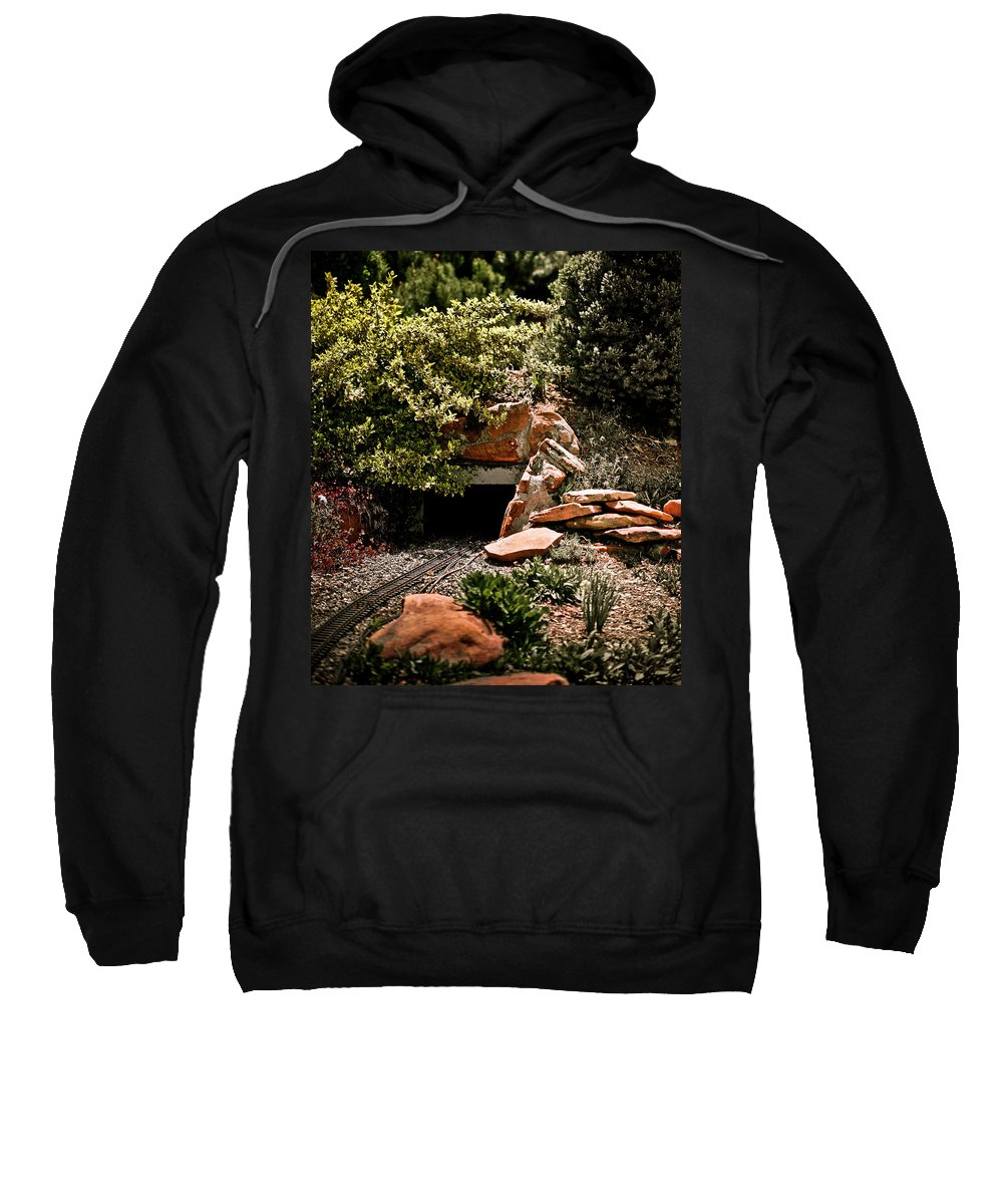 Train Sweatshirt featuring the photograph Model Train Tunnel by Marilyn Hunt