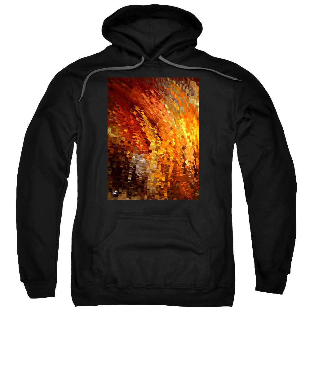 Contemporary Sweatshirt featuring the painting Modern Composition 33 by Rafi Talby