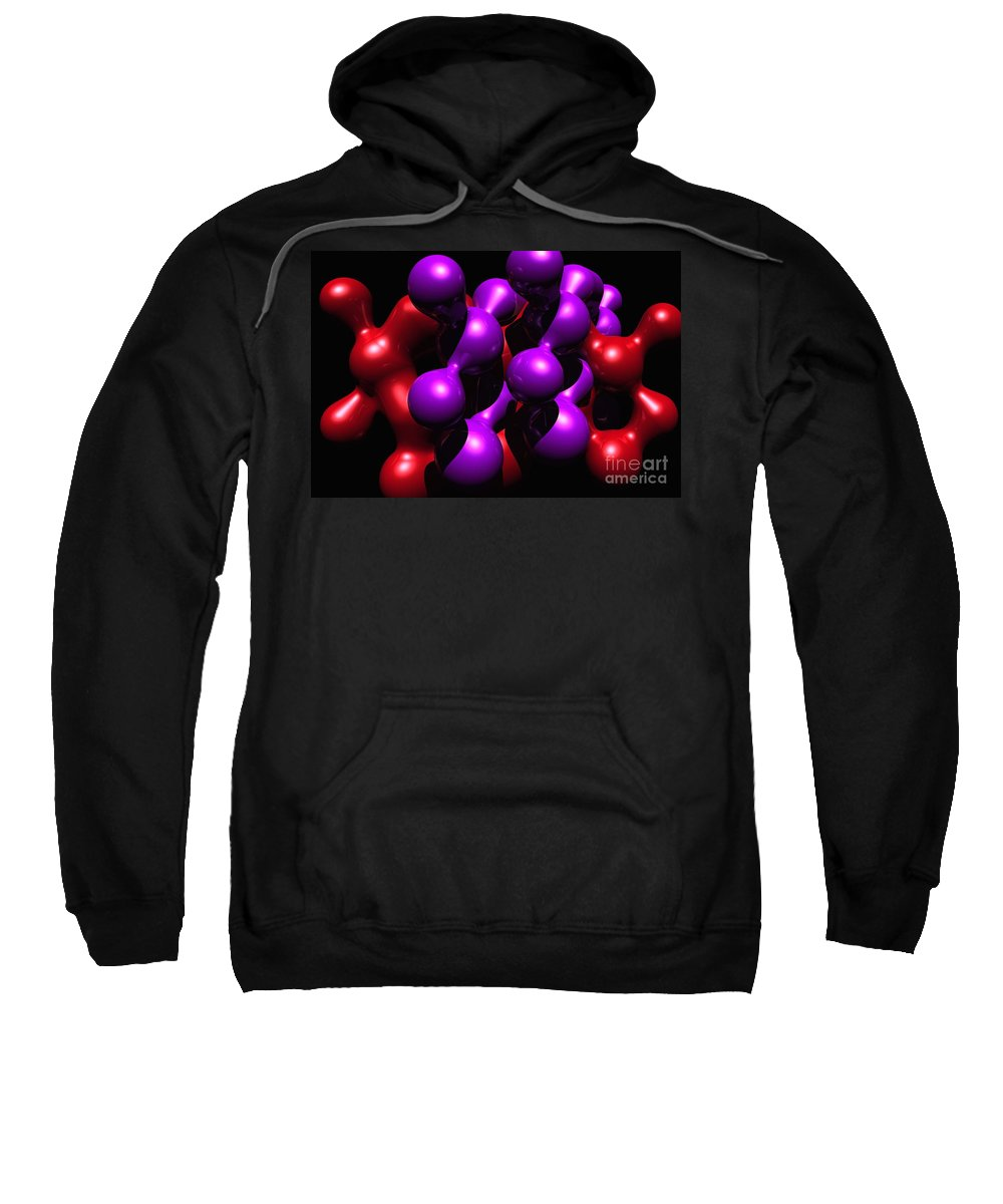 Abstract Sweatshirt featuring the digital art Molecular Abstract by David Lane