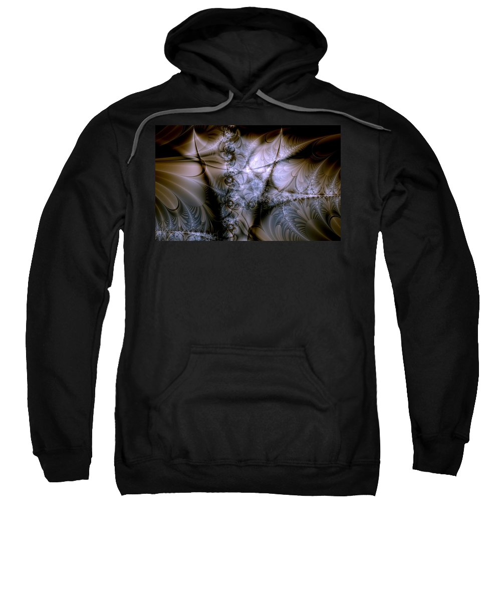 Chocolate Sweatshirt featuring the digital art Molecular Cacao by Casey Kotas