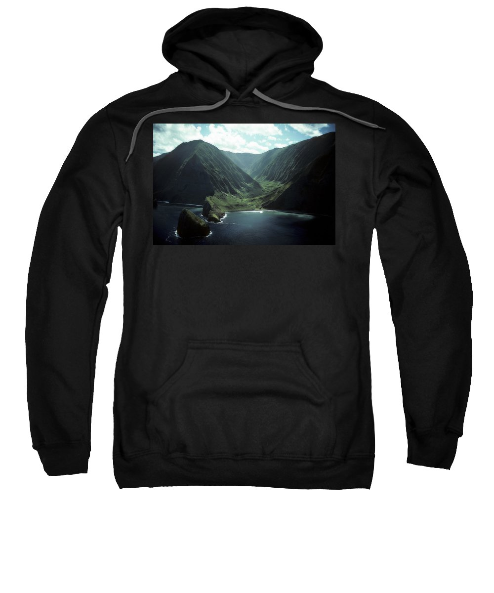 Molokai Sweatshirt featuring the photograph Molokai Valley by Steven Sparks