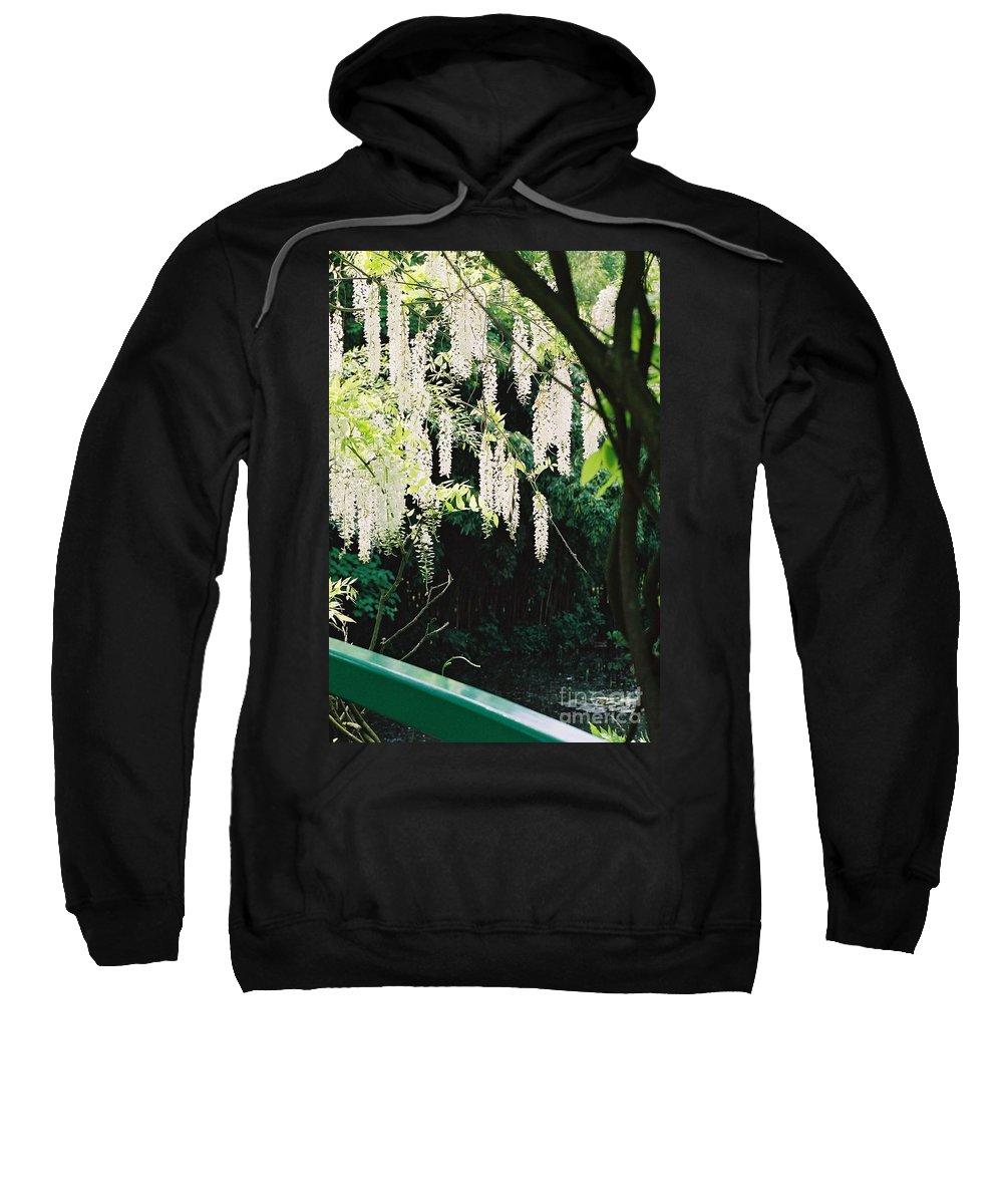 Monet Sweatshirt featuring the photograph Monet's Garden Delights by Nadine Rippelmeyer