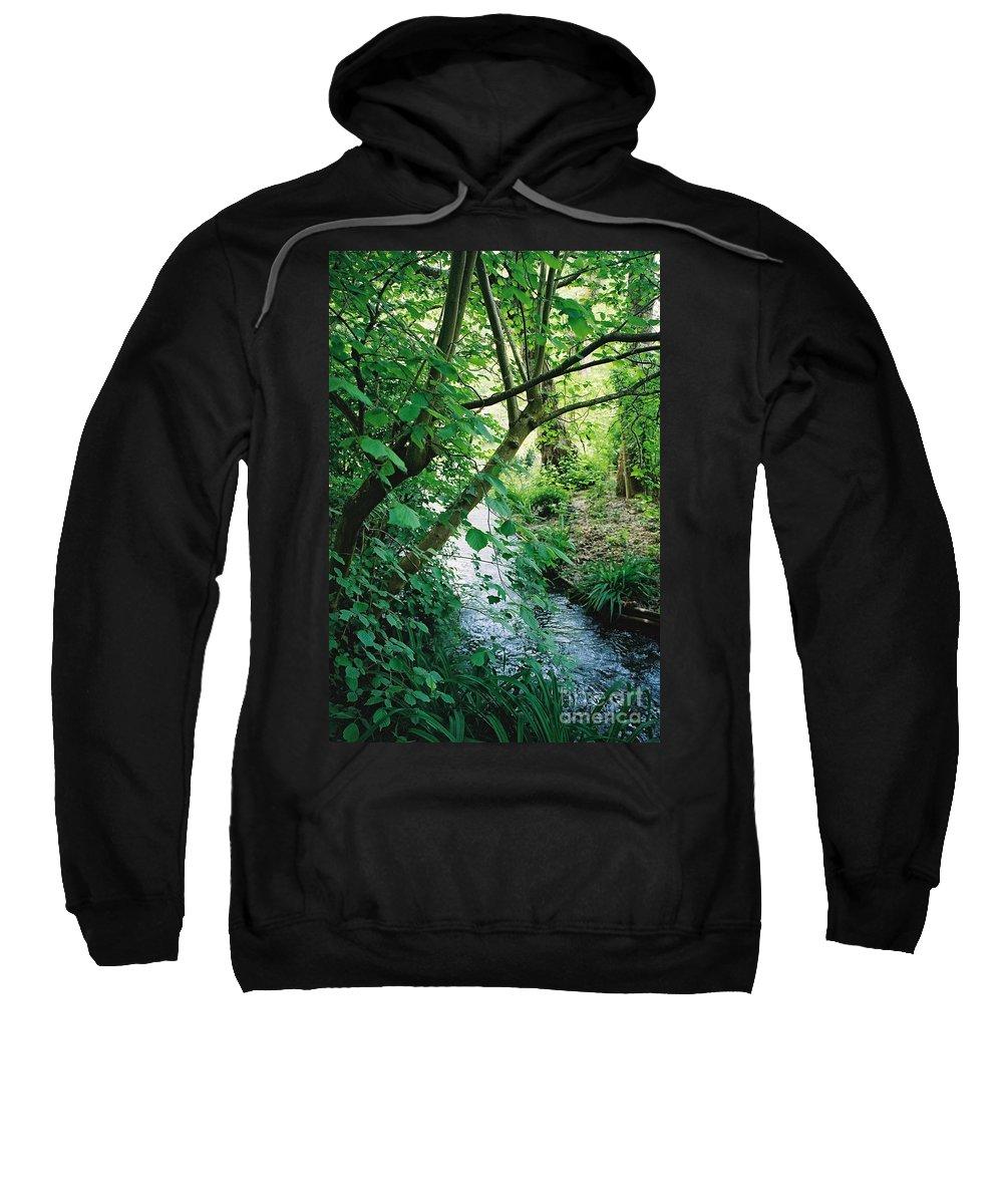 Photography Sweatshirt featuring the photograph Monet's Garden Stream by Nadine Rippelmeyer