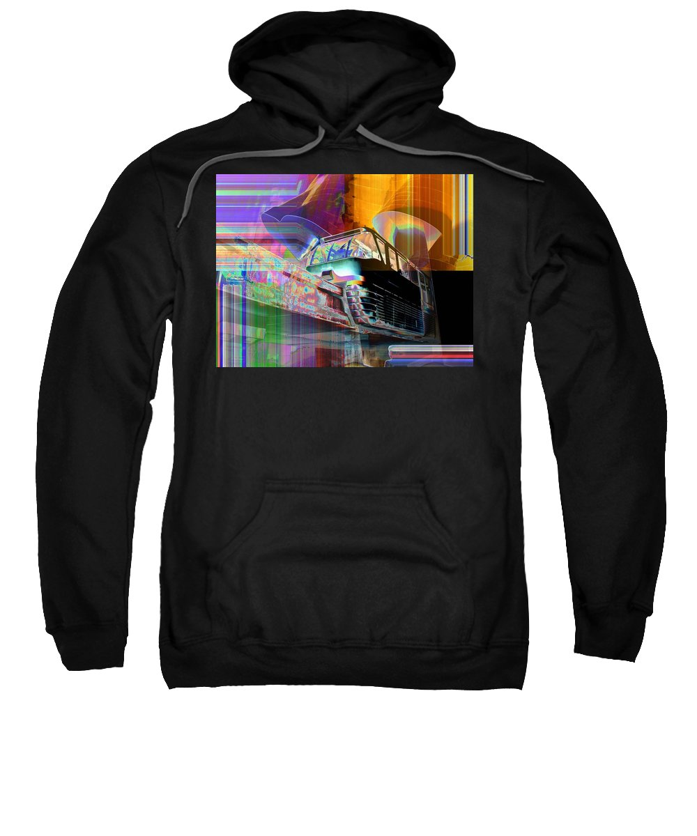 Seattle Sweatshirt featuring the digital art Monorail And Emp by Tim Allen