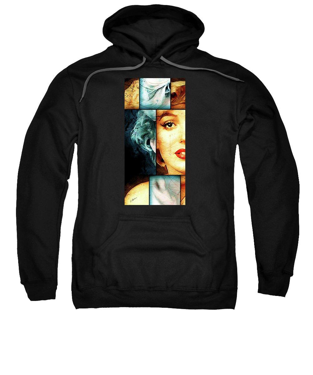Monroe Sweatshirt featuring the digital art Monroe Panel A by Gary Bodnar