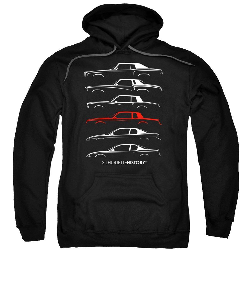 Silhouette Digital Art Hooded Sweatshirts T-Shirts