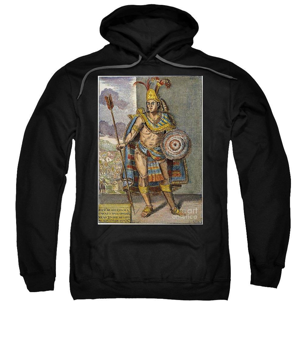 15th Century Sweatshirt featuring the photograph Montezuma II (1480?-1520) by Granger