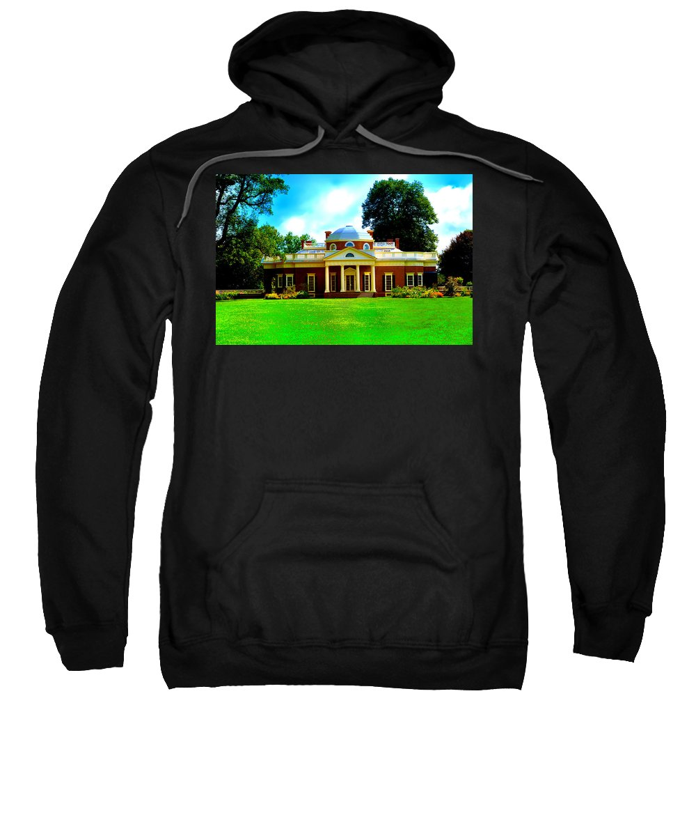 Monticello Sweatshirt featuring the photograph Monticello by Bill Cannon