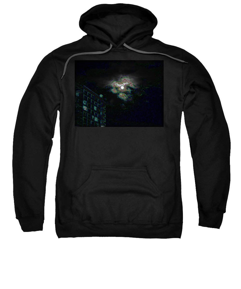 Moon Sweatshirt featuring the photograph Moon Glow by Tim Allen