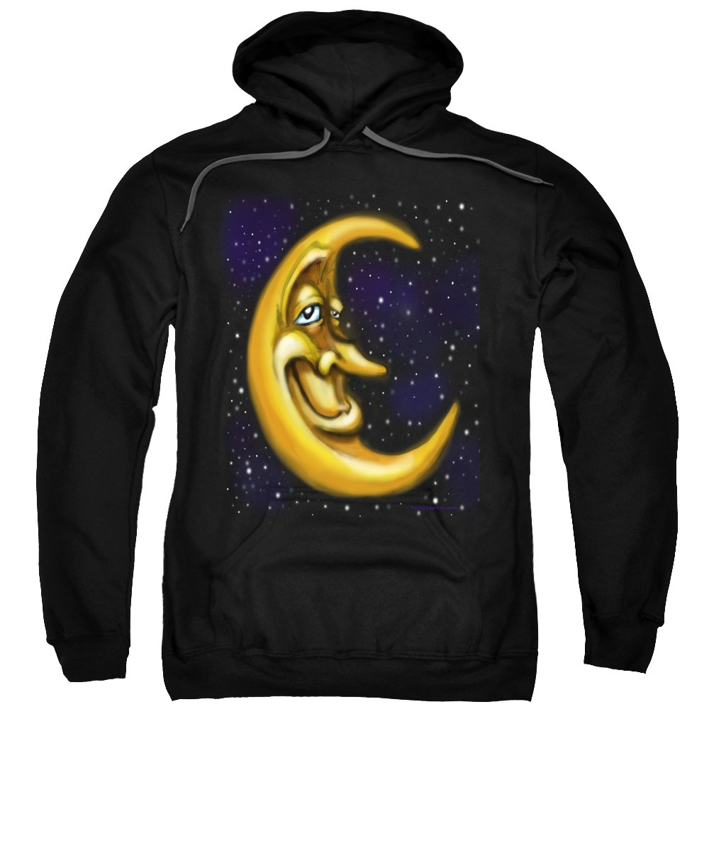 Moon Sweatshirt featuring the painting Moon by Kevin Middleton