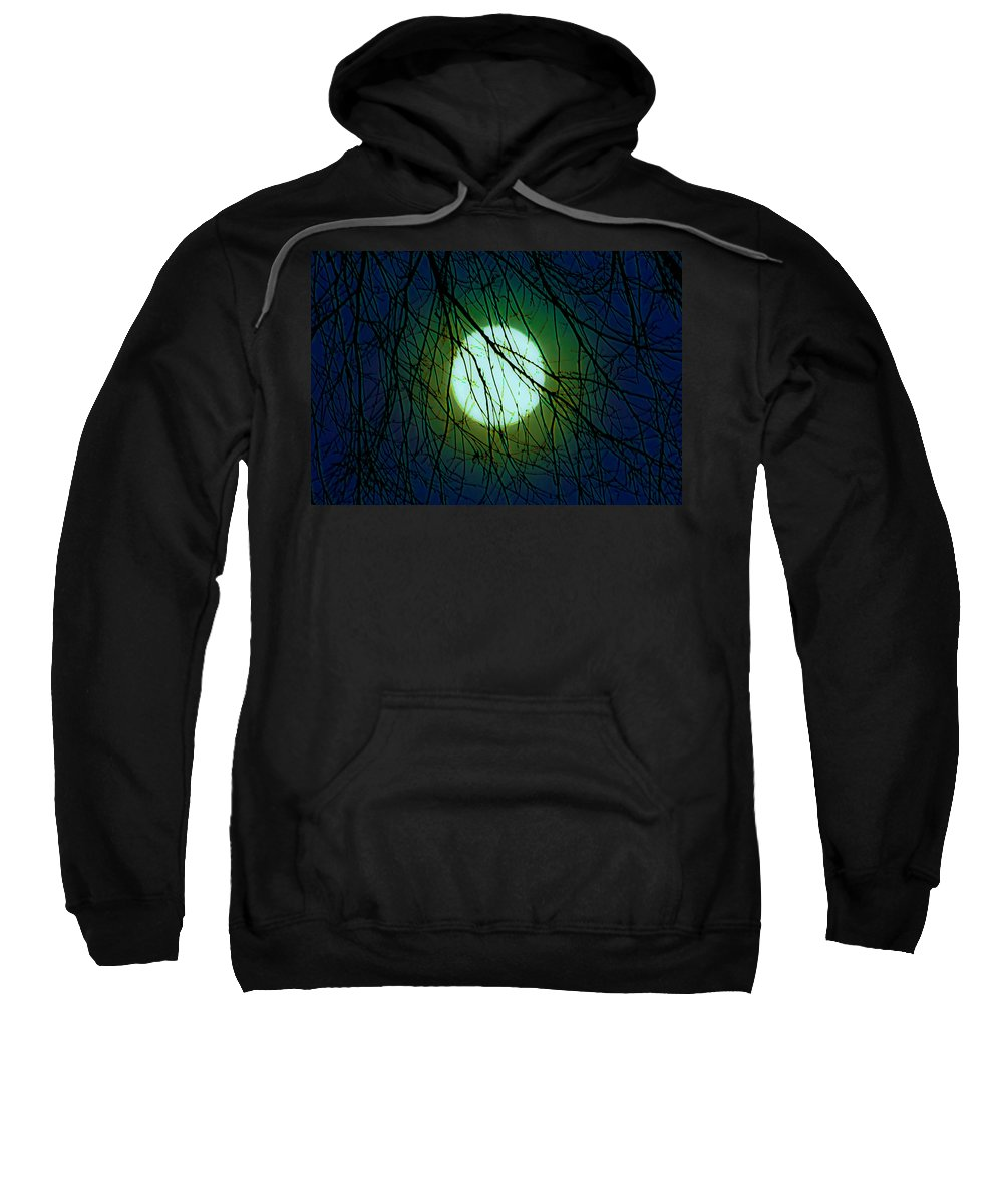 Moon Sweatshirt featuring the digital art Moon Of The Werewolf by DigiArt Diaries by Vicky B Fuller
