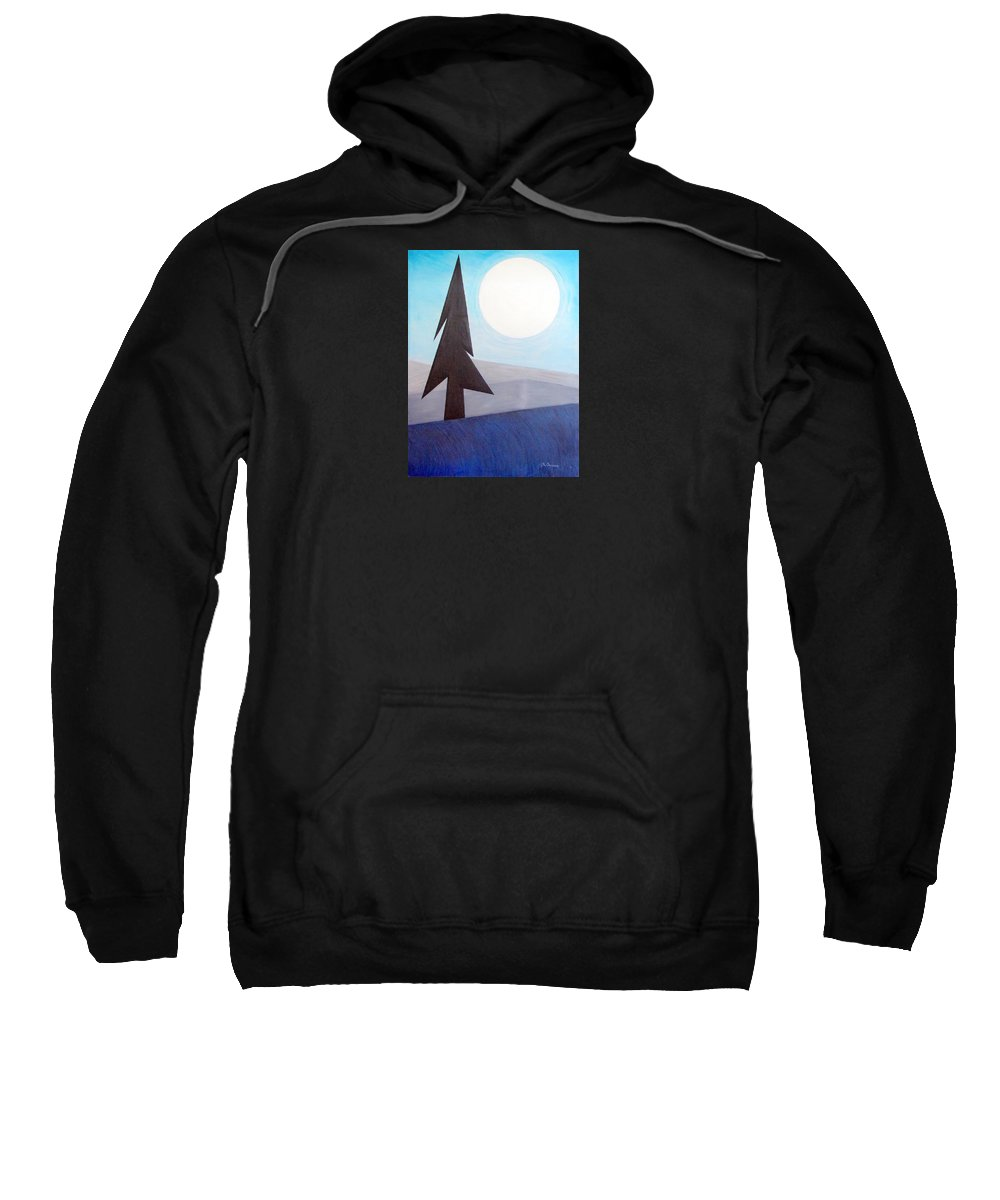 Impressionist Painting Sweatshirt featuring the painting Moon Rings by J R Seymour