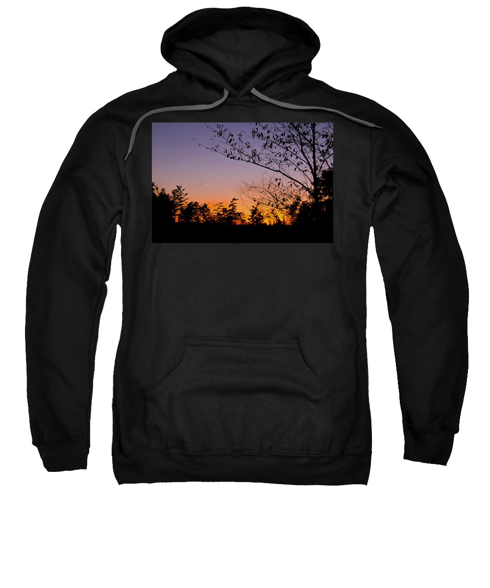 Moon Sweatshirt featuring the photograph Moon Rising by Gary Adkins