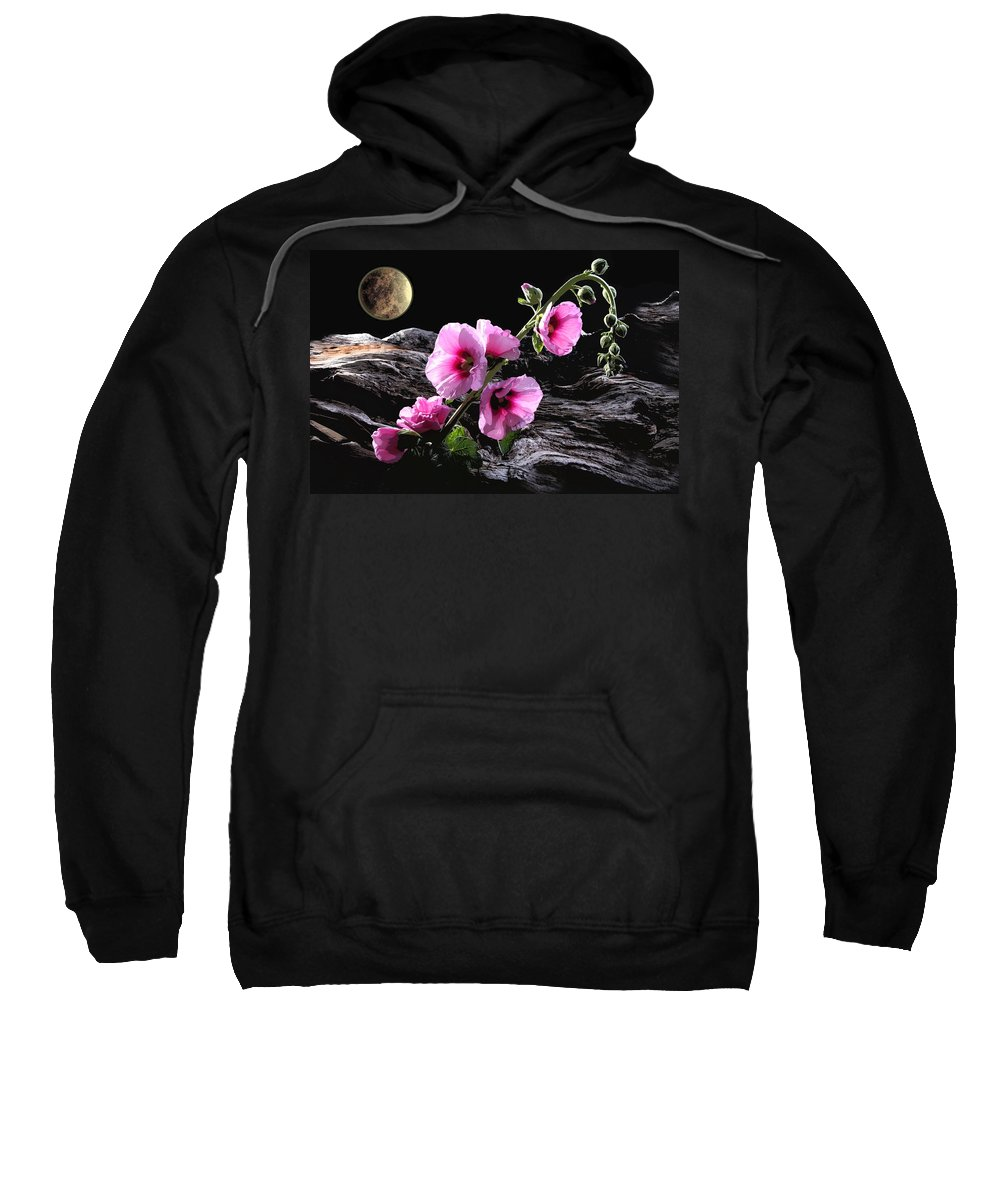 Flowers Sweatshirt featuring the photograph Moon Scape by Manfred Lutzius