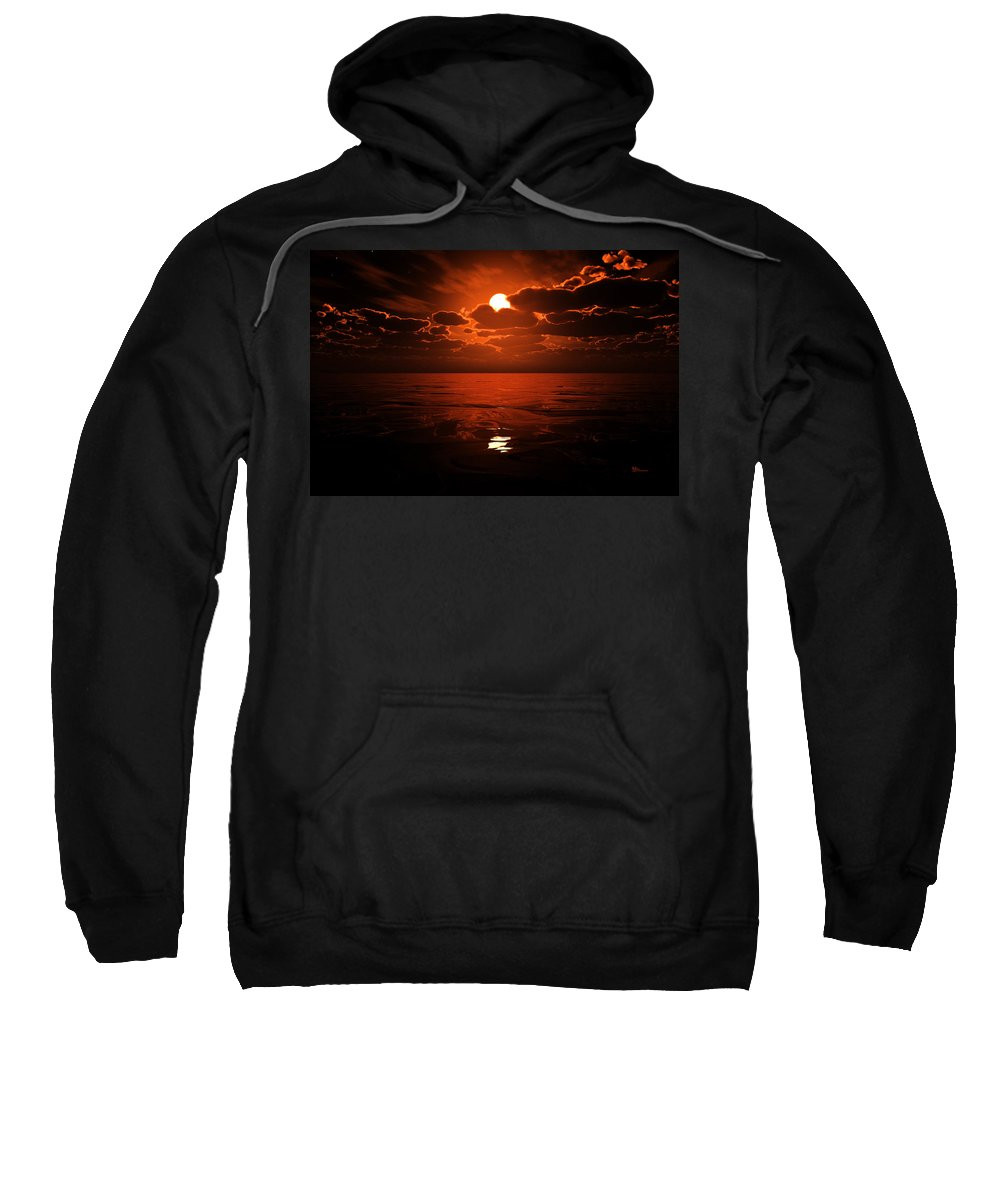 Cloud Sweatshirt featuring the digital art Moon Water by Max Steinwald