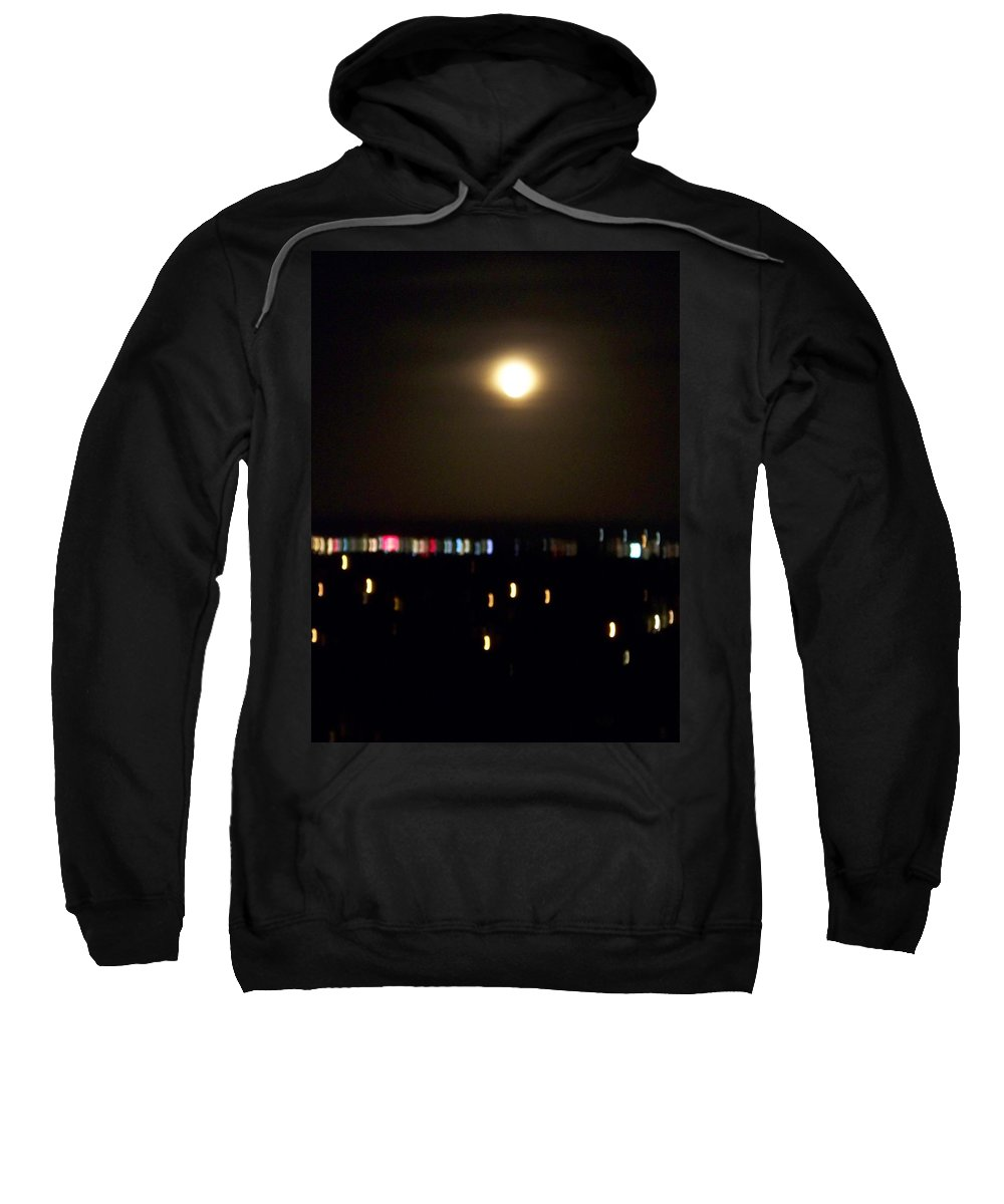 Night Light Sweatshirt featuring the photograph Moonglow by Laurie Paci