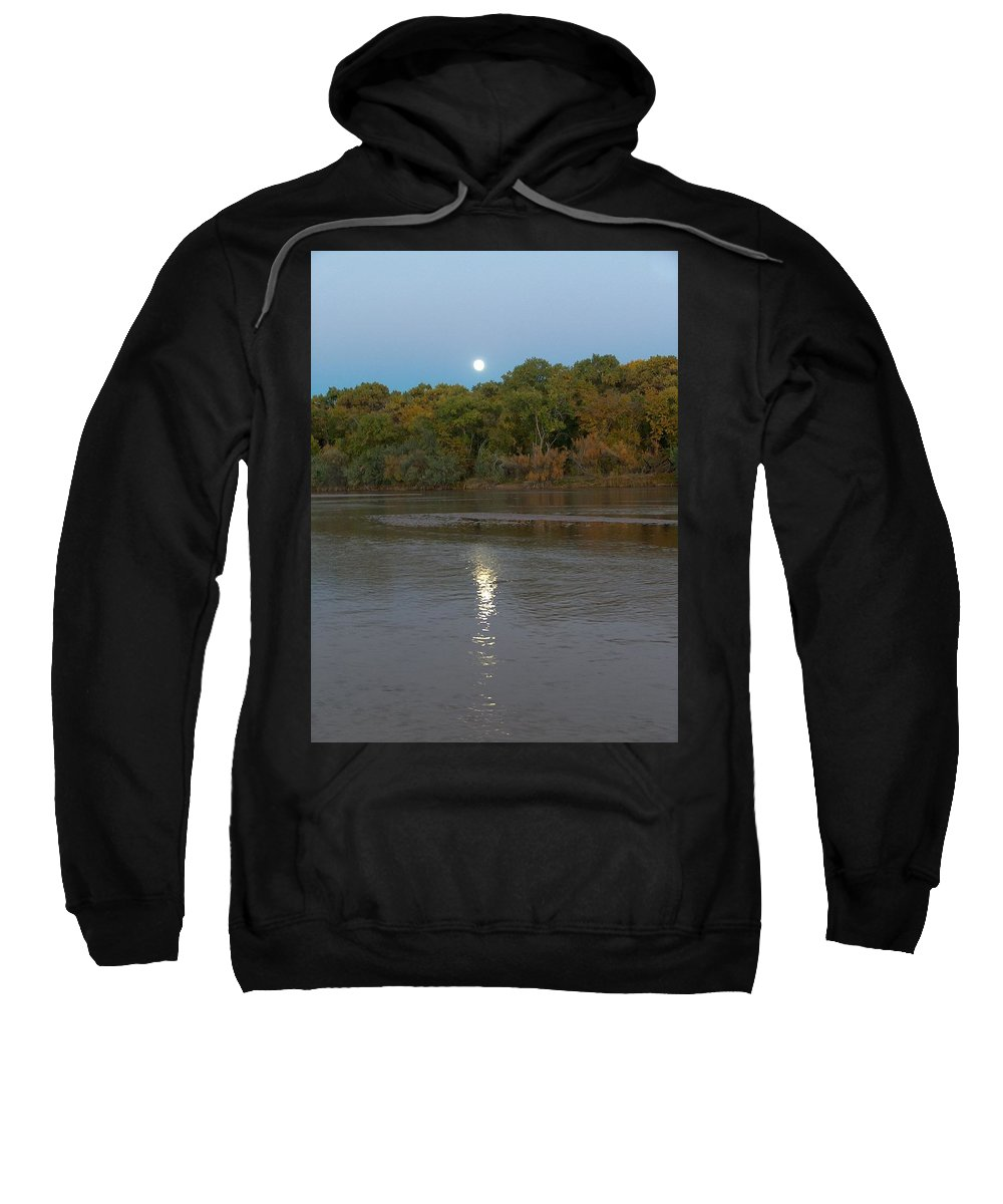 Moonlight Sweatshirt featuring the photograph Moonlight On The Rio Grande by Tim McCarthy
