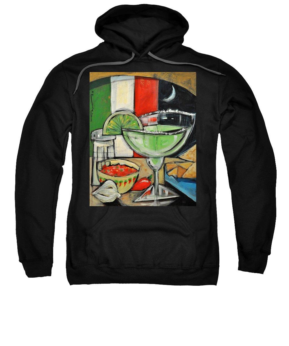 Margarita Sweatshirt featuring the painting Moonlight Over Margaritaville by Tim Nyberg