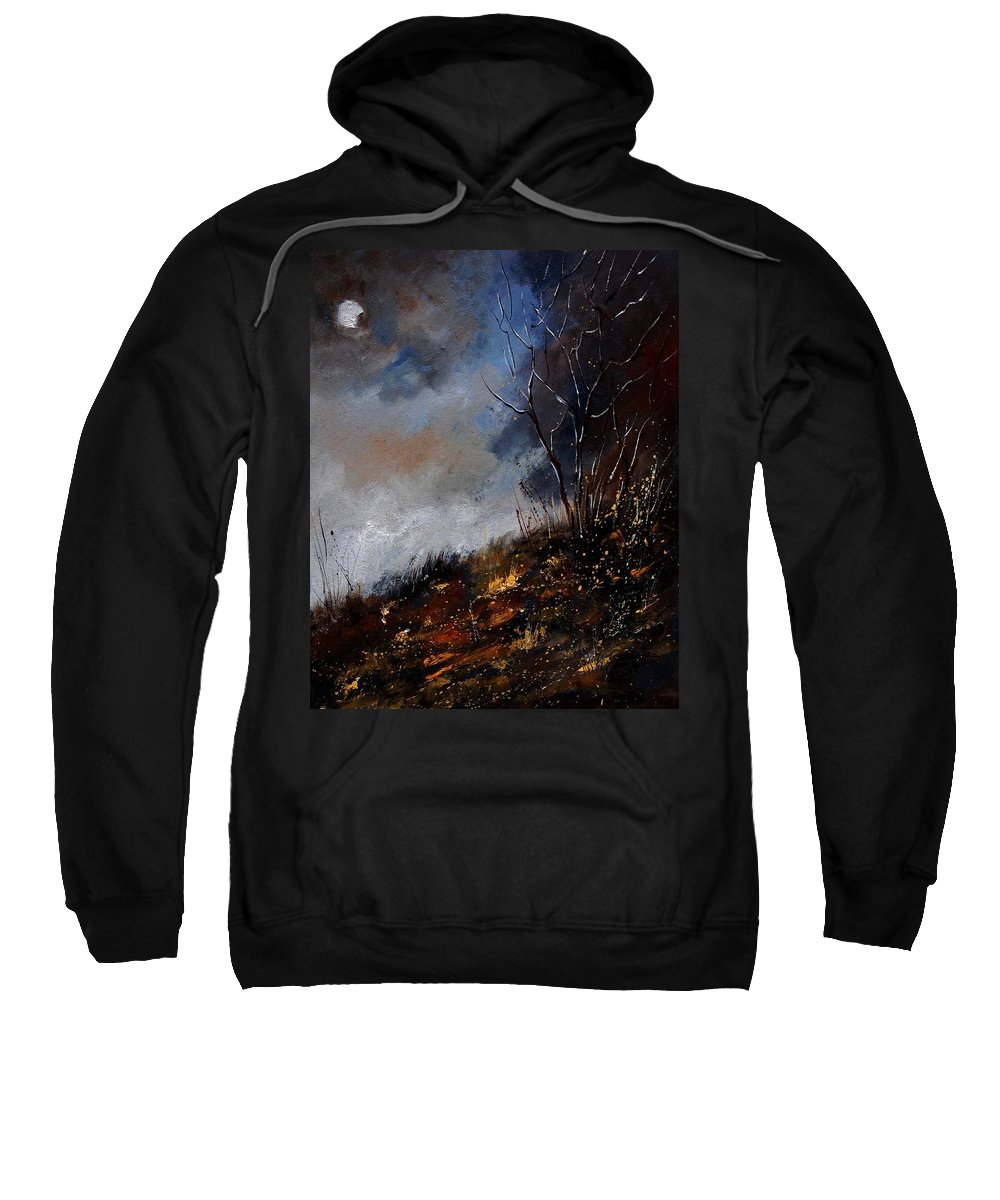 Winter Sweatshirt featuring the painting Moonshine 45901190 by Pol Ledent