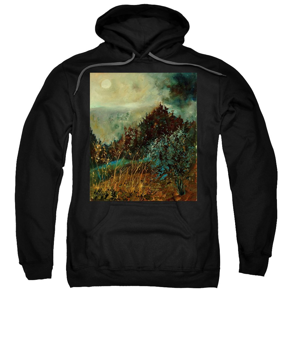 Tree Sweatshirt featuring the painting Moonshine 5642 by Pol Ledent