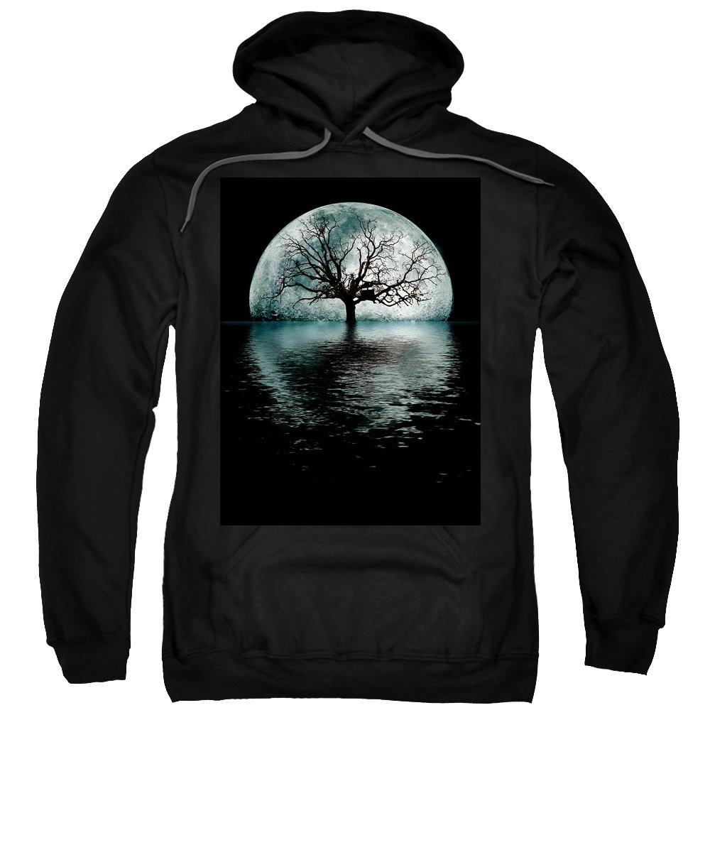 Moontree Sweatshirt featuring the digital art Moontree by Joseph Davis