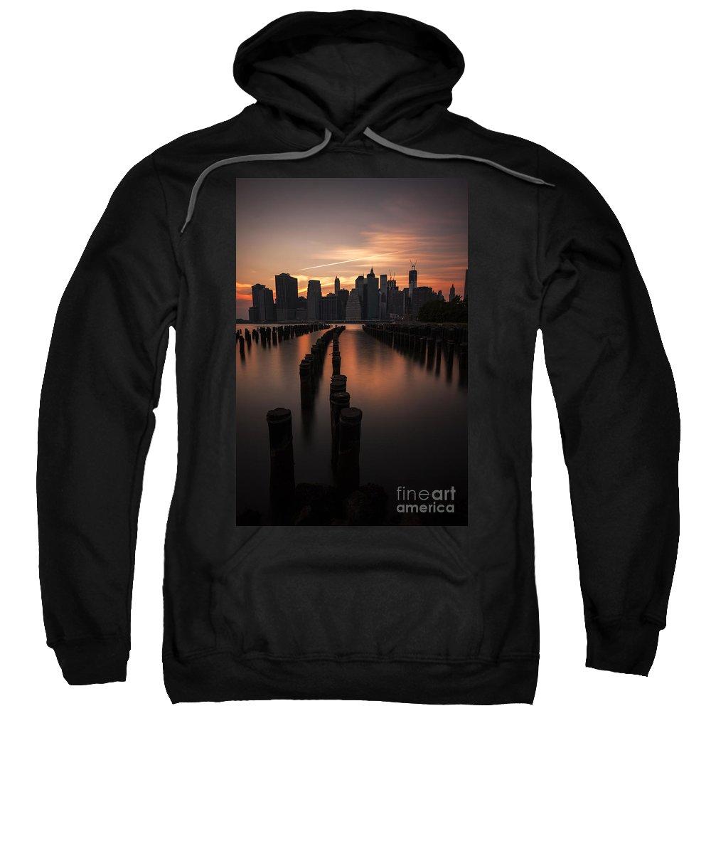 Manhattan Sweatshirt featuring the photograph Mooring Eve by Andrew Paranavitana