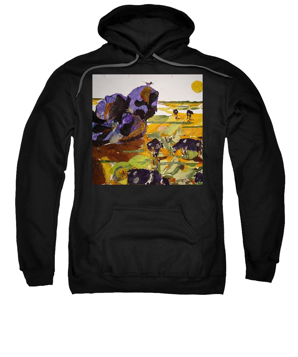 Glory Of Morning Sweatshirt featuring the mixed media Morning Activities by Basant Soni